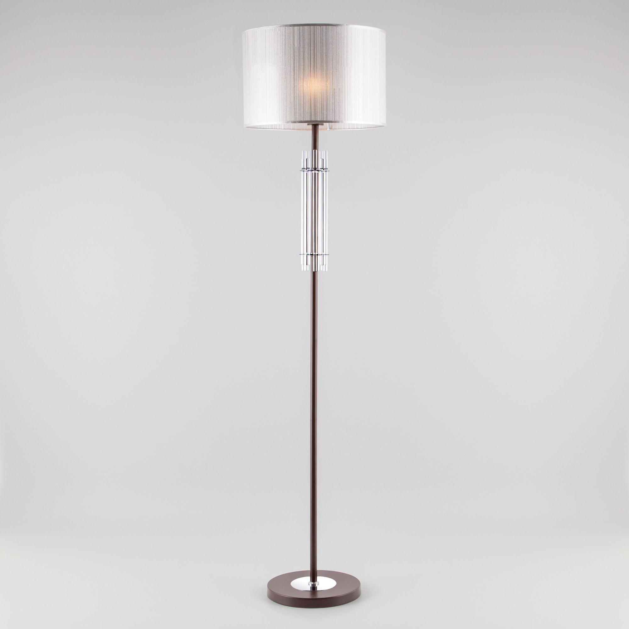 Напольный светильник с абажуром 01062/1 хром