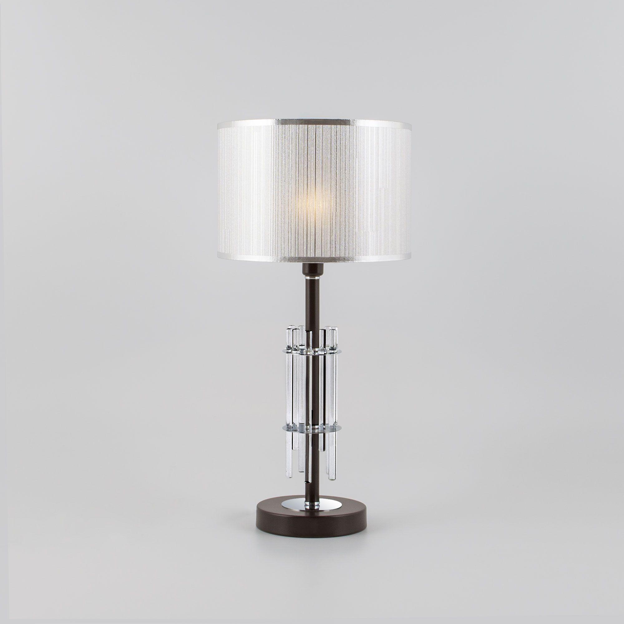 Настольная лампа с абажуром 01063/1 хром
