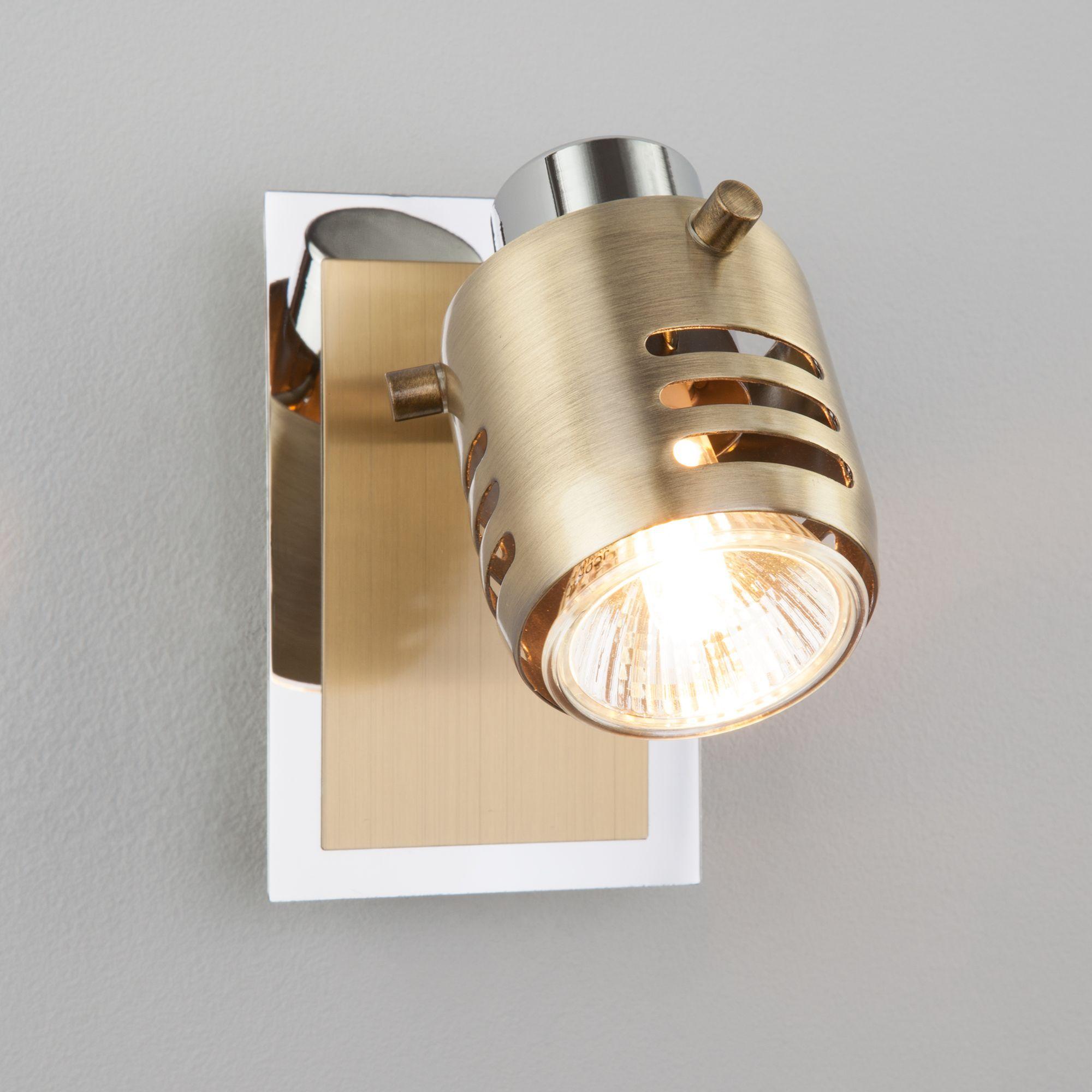 Спот с поворотным плафоном 23463/1 хром / античная бронза