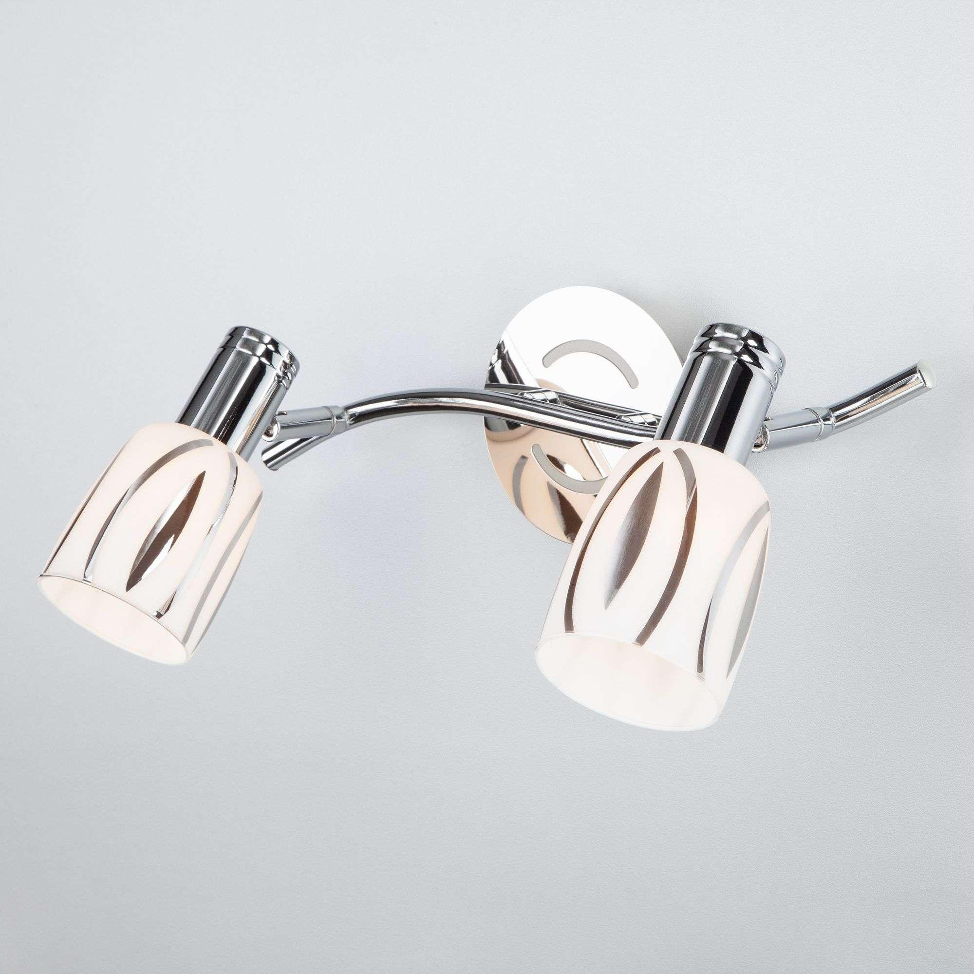 Настенный светильник с плафонами 20113/2 хром