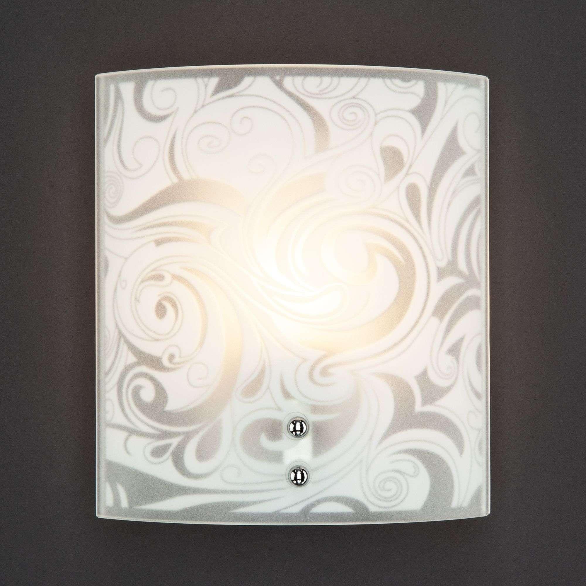 Настенный светильник со стеклянным плафоном 3765/1 хром