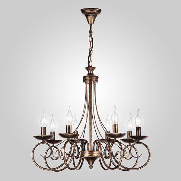 Люстра подвесная в классическом стиле 22404/8 черный с золотом