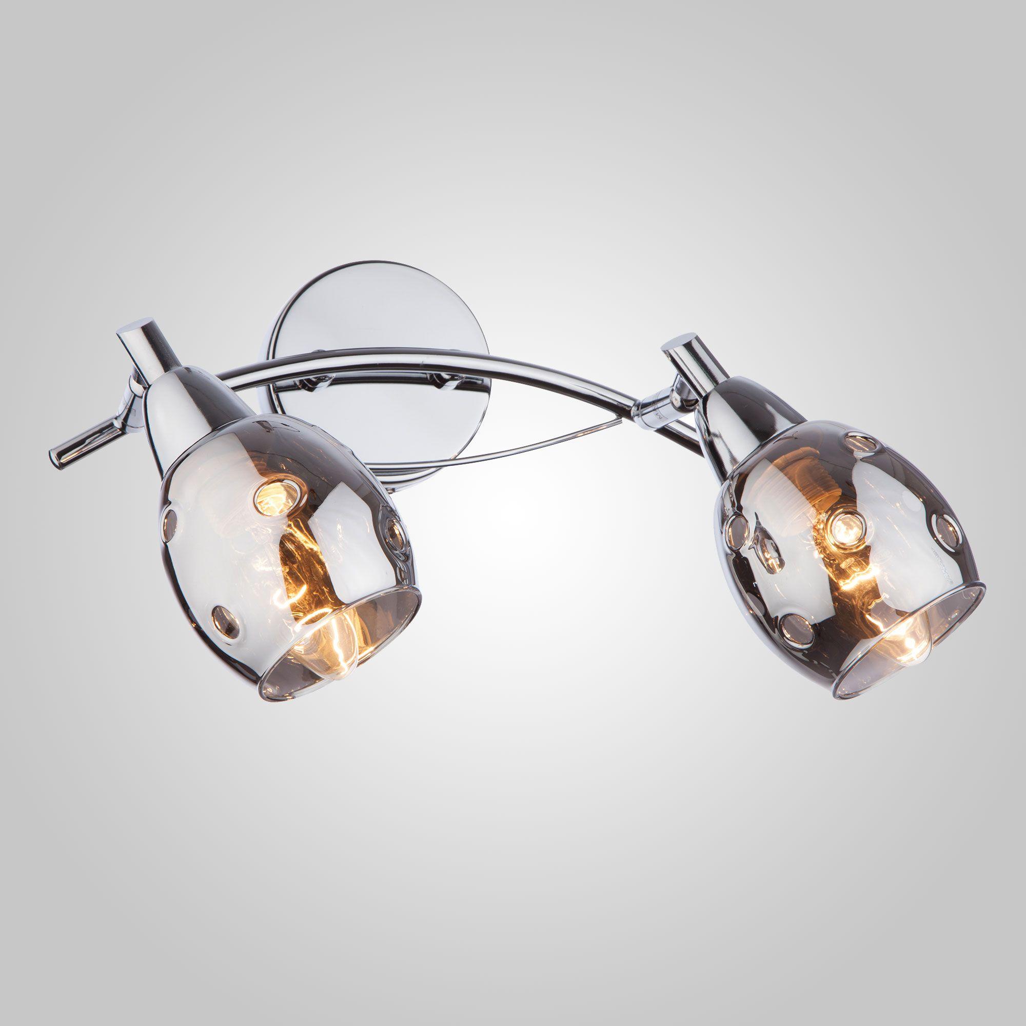 Настенный светильник с плафонами 20050/2 хром
