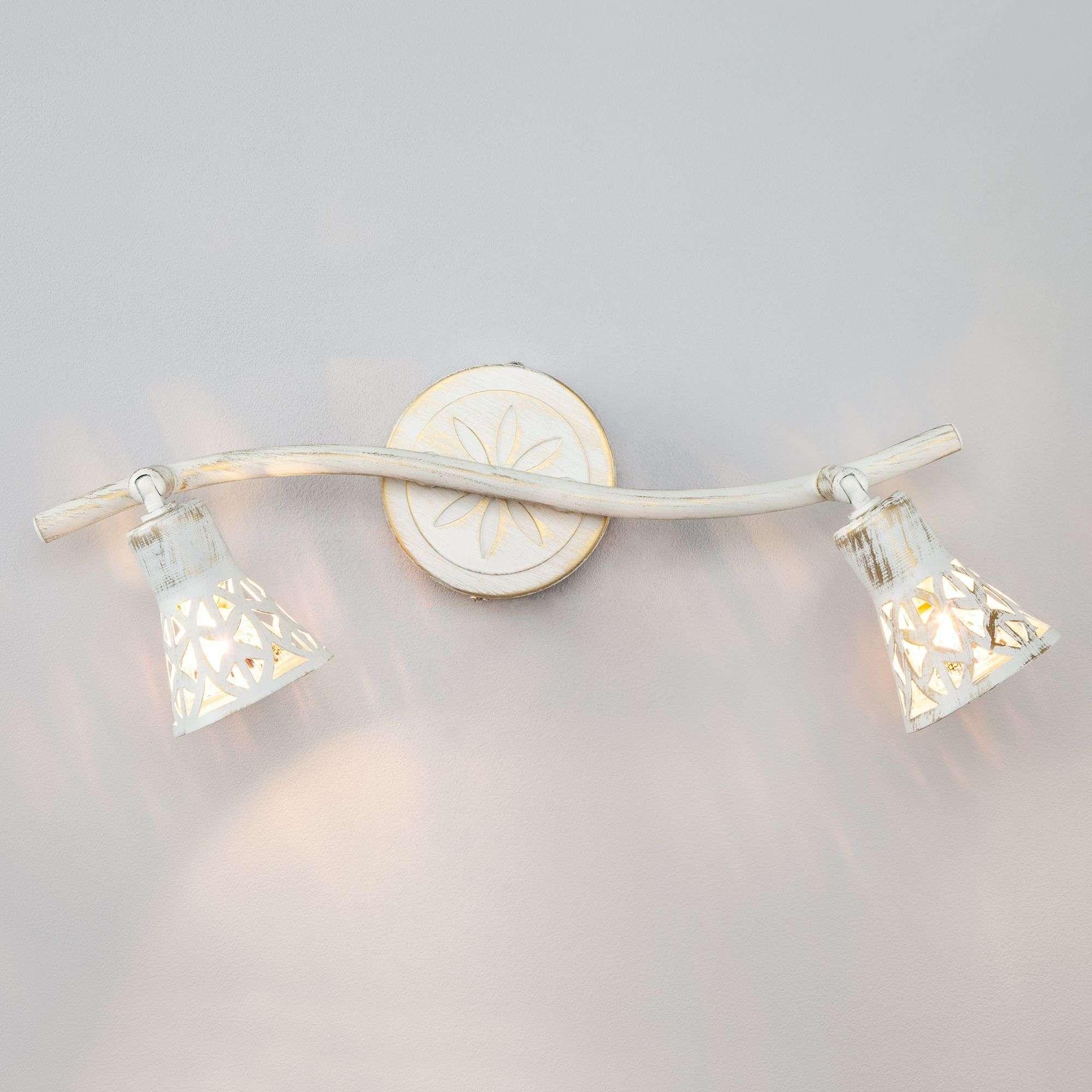 Светильник-спот с поворотными плафонами 20027/2 белый с золотом