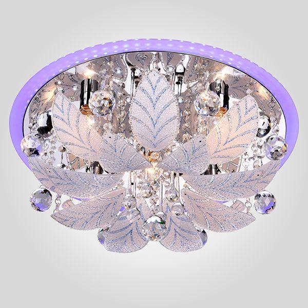 Потолочная люстра с декоративными листиками 80111/8 хром