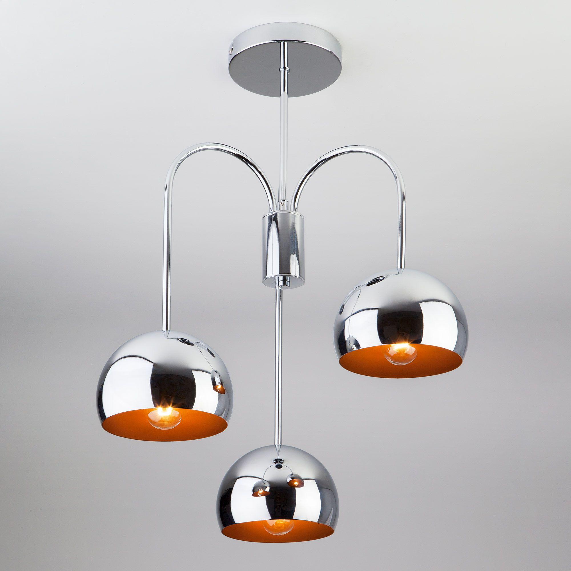Подвесной светильник хром 70067/3 хром