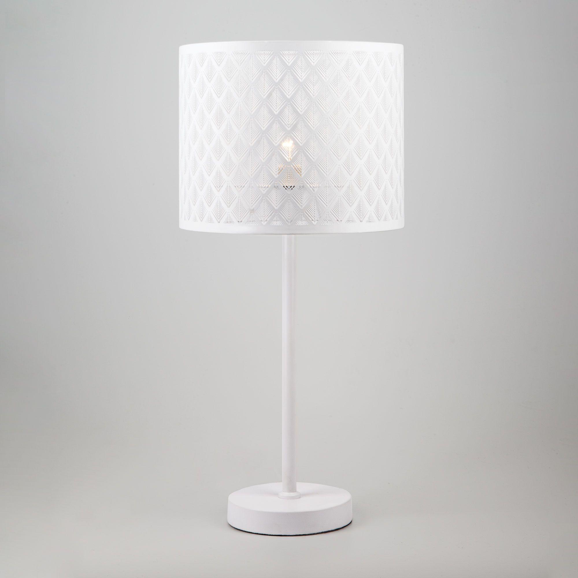 Настольная лампа с абажуром 01018/1 белый