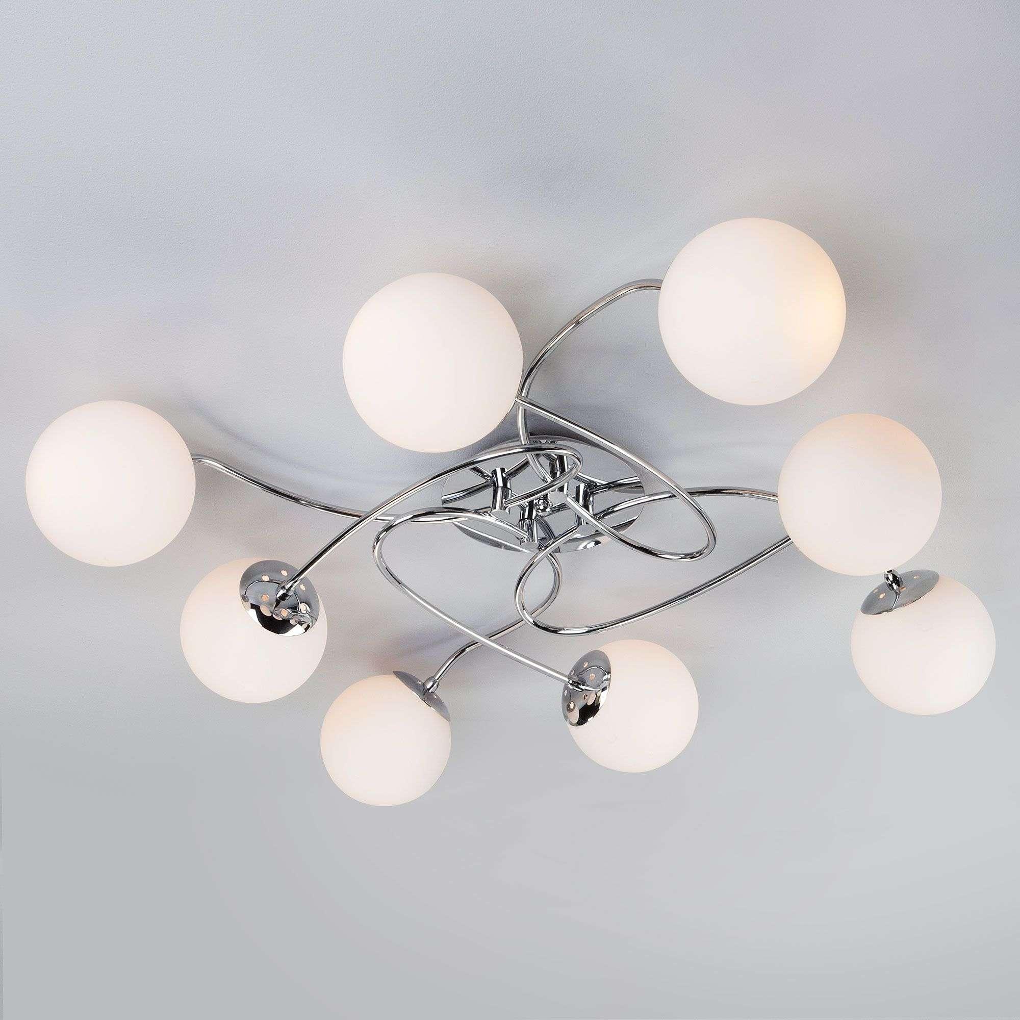 Потолочный светильник с круглыми плафонами 30129/8 хром