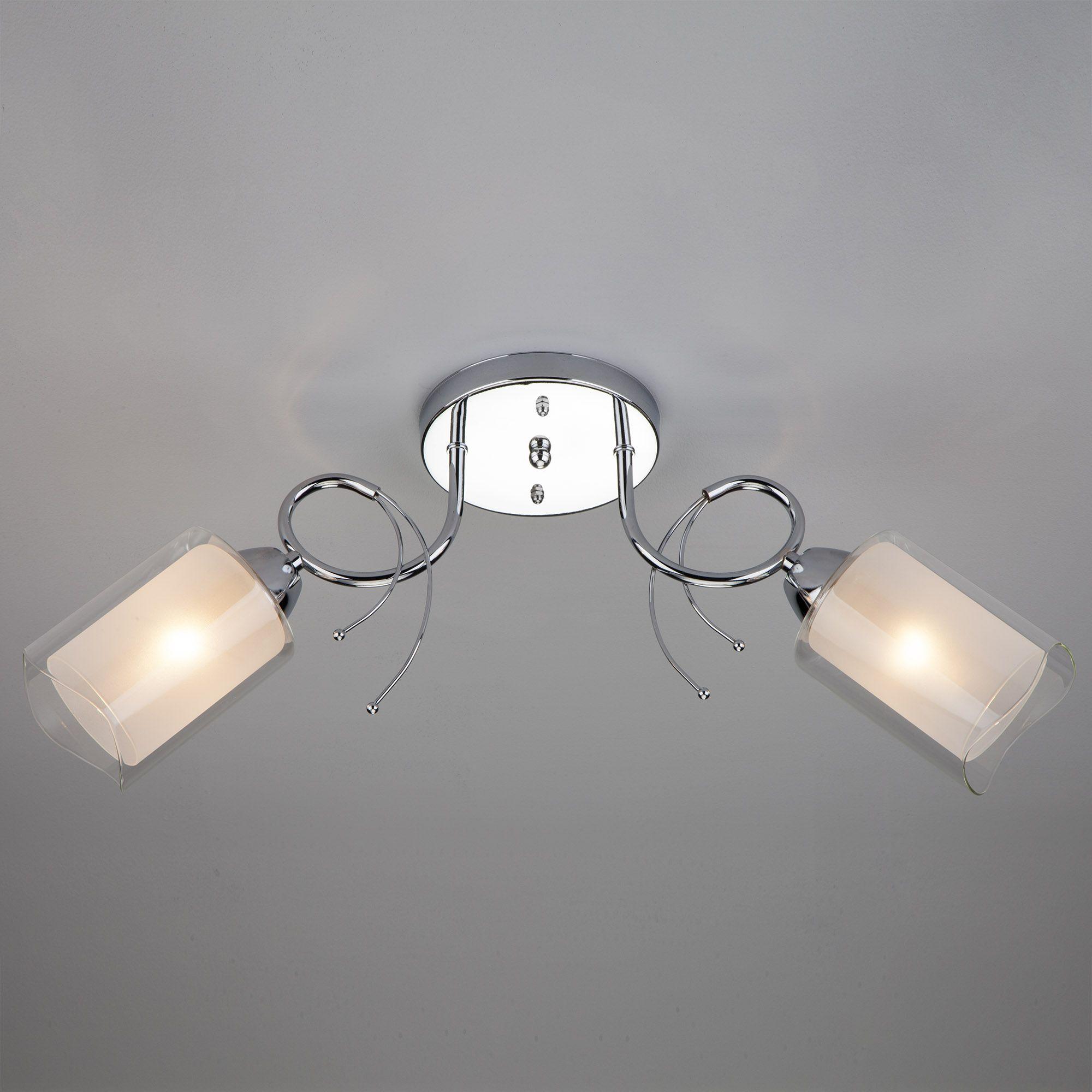 Потолочный светильник с двойными плафонами 30122/2 хром