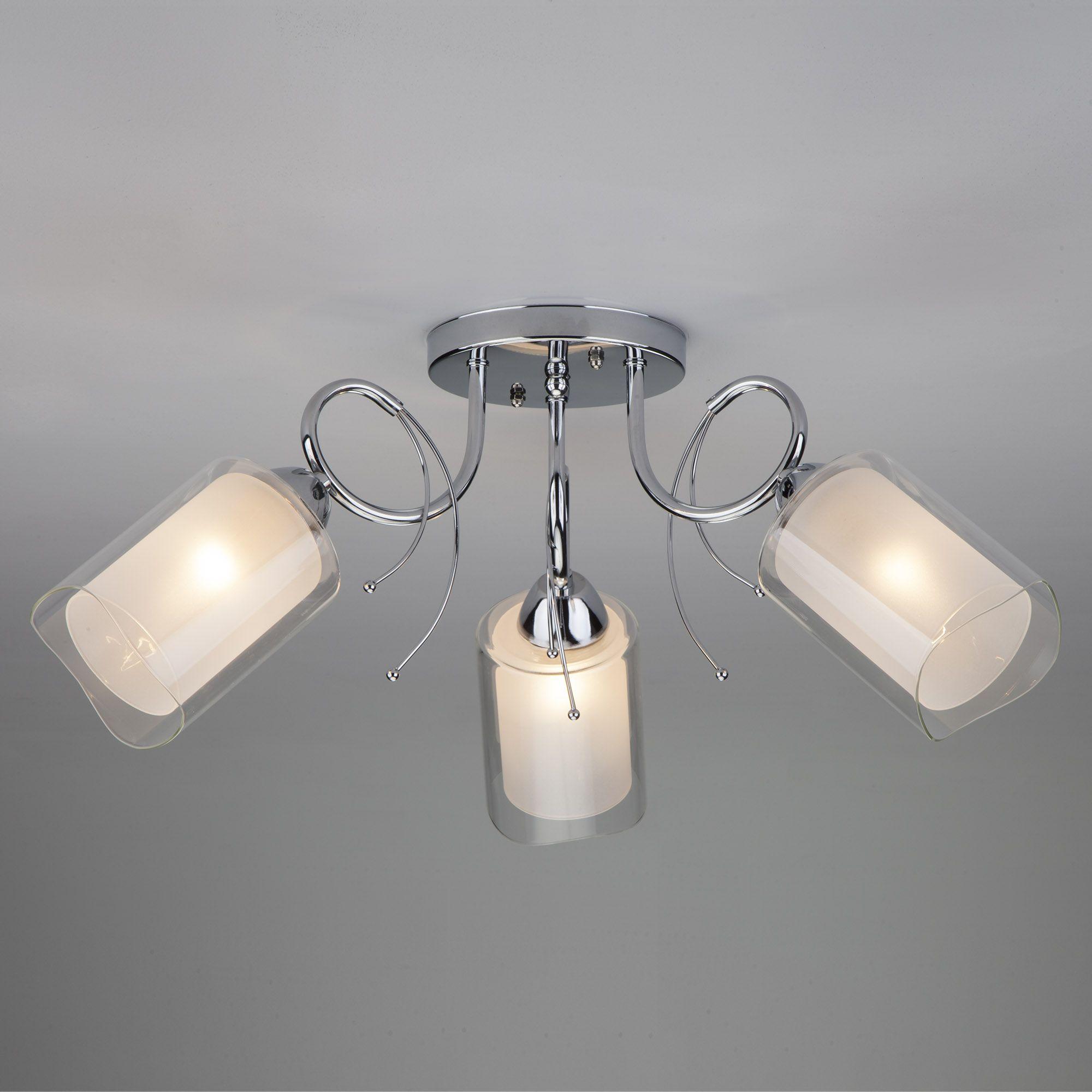 Потолочный светильник с двойными плафонами 30122/3 хром
