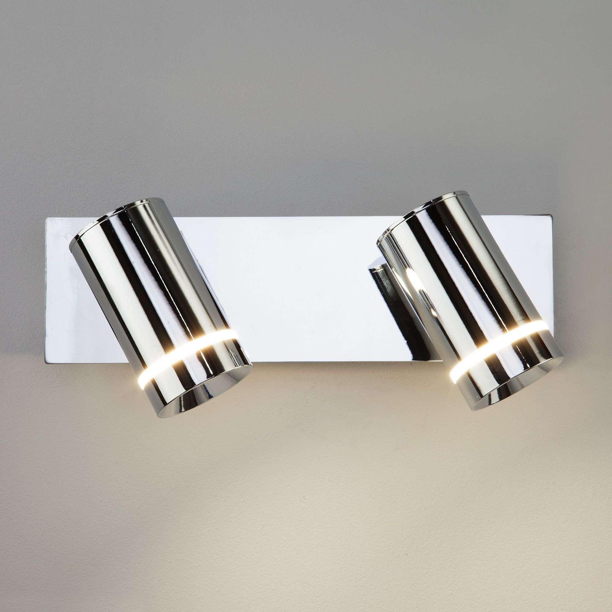 Светодиодный настенный светильник с поворотными плафонами 20064/2 хром