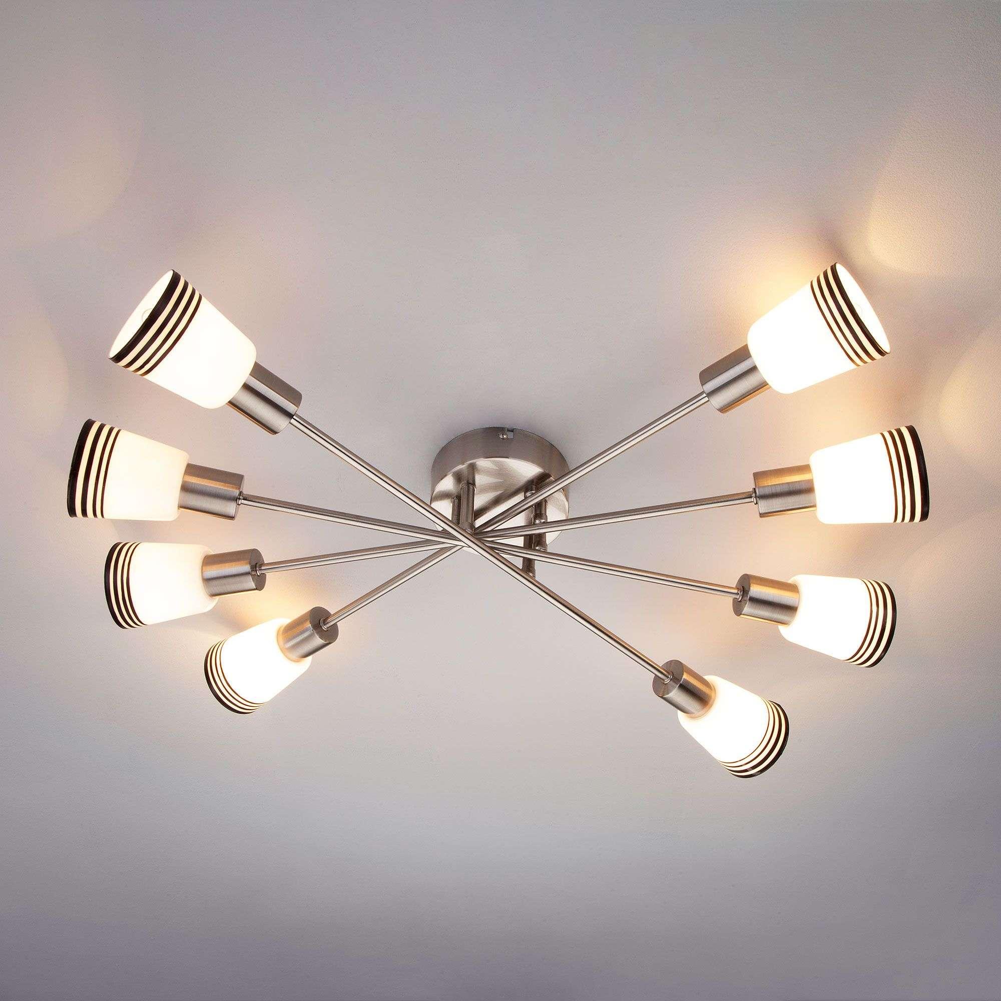 Потолочный светильник с плафонами 30132/8 сатин-никель