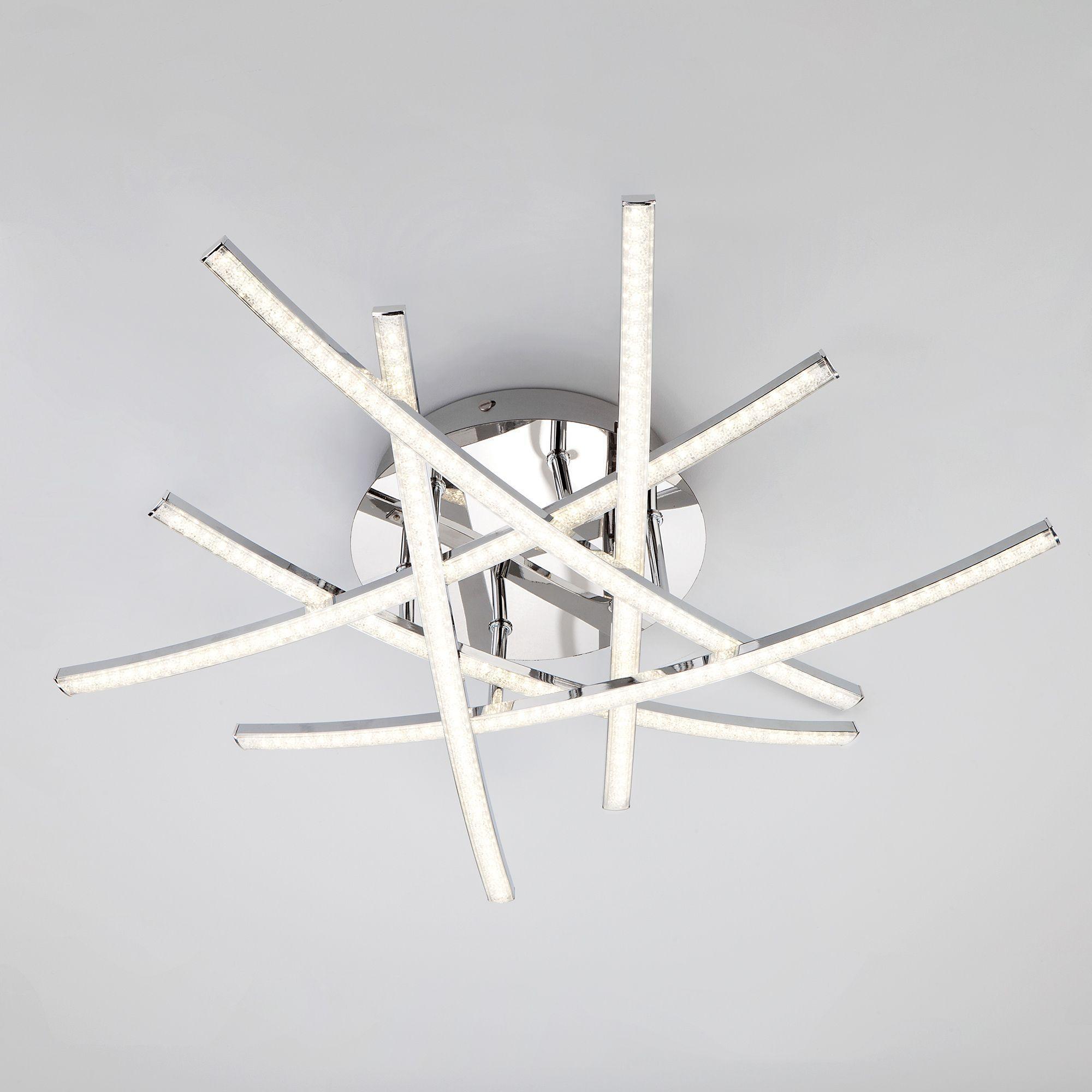 Потолочный LED светильник с хрустальной крошкой 90107/6 хром