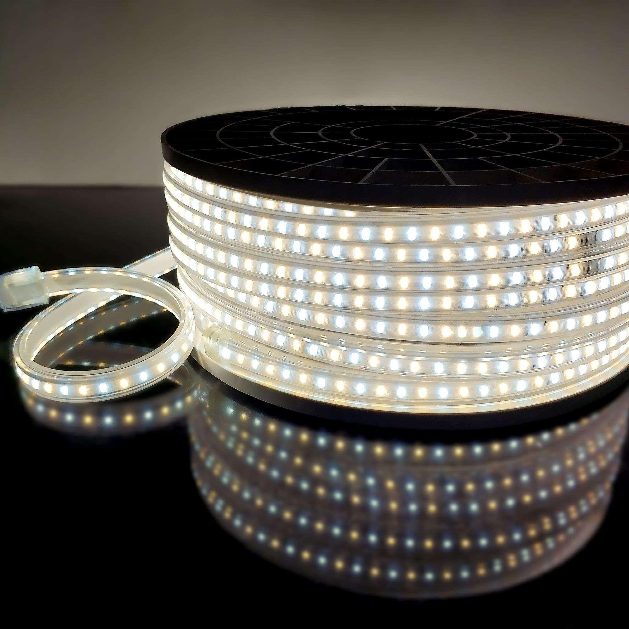 Светодиодная гирлянда уличная, 10м. ,100 LED ламп, чёрный