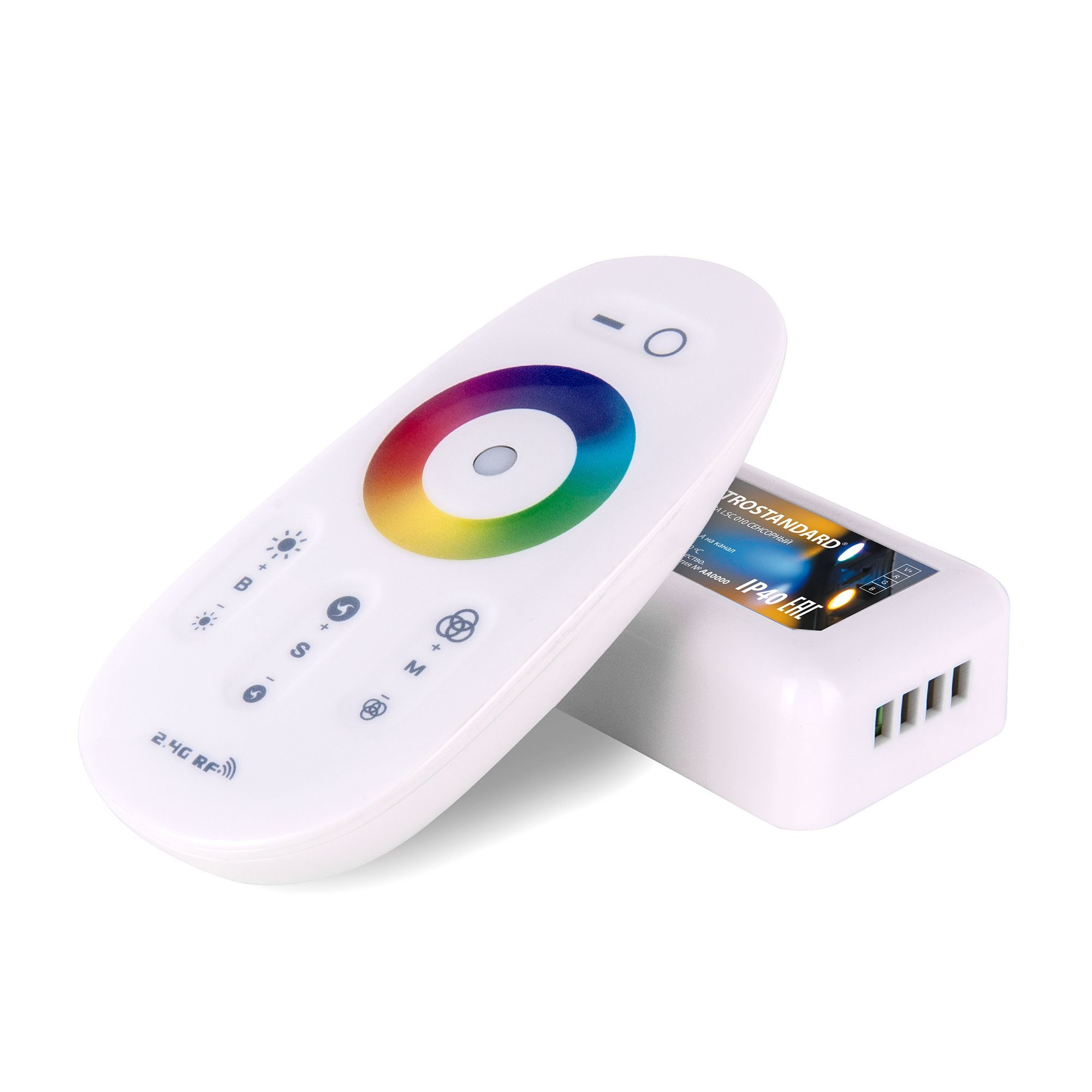 Сенсорный контроллер для светодиодной ленты RGB с ПДУ 12V (радио) IP40 LSC 010