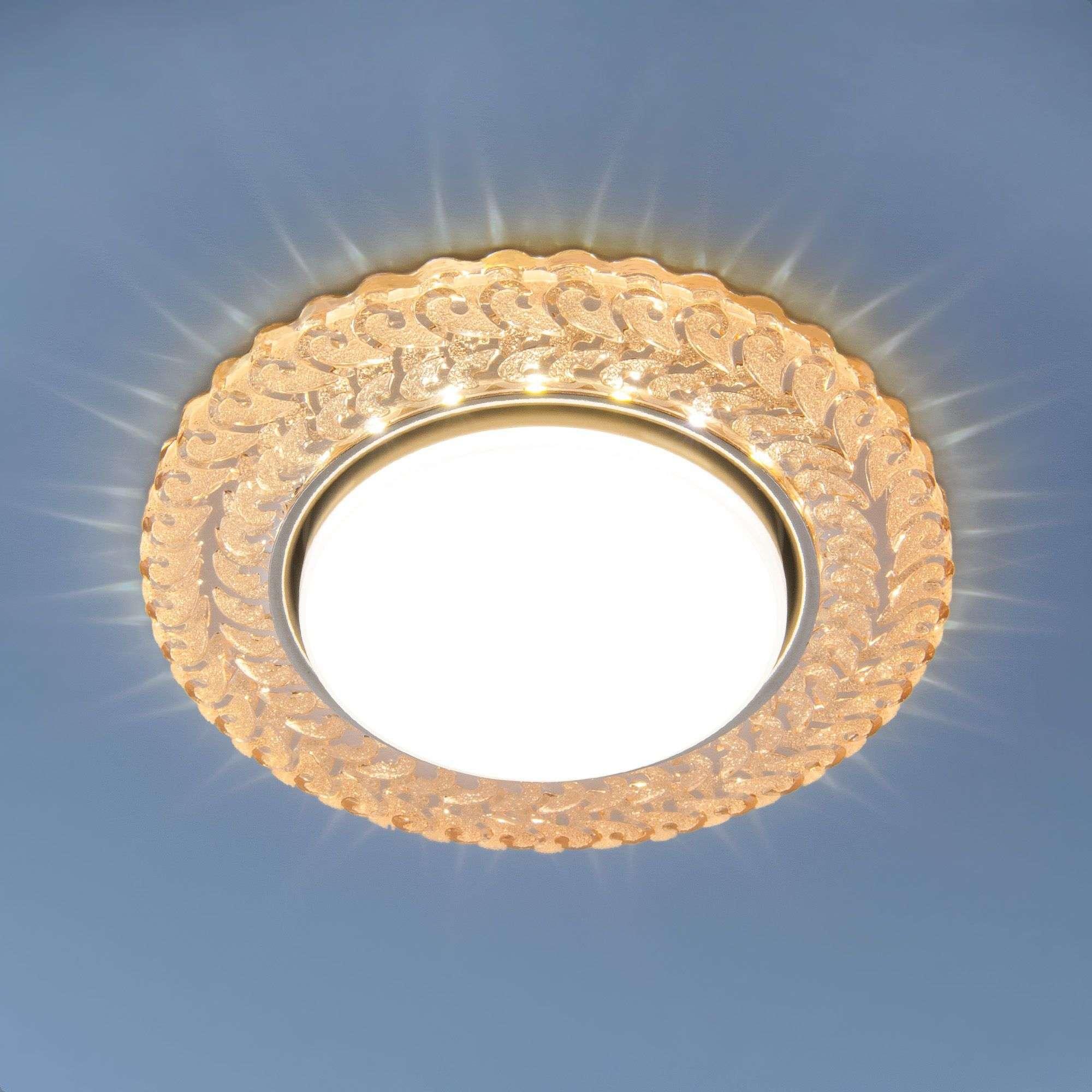 Встраиваемый точечный светильник с LED подсветкой 3027 GX53