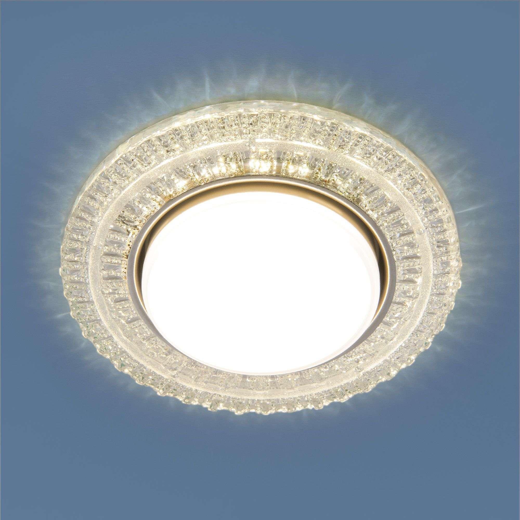 Встраиваемый точечный светильник с LED подсветкой 3028 GX53