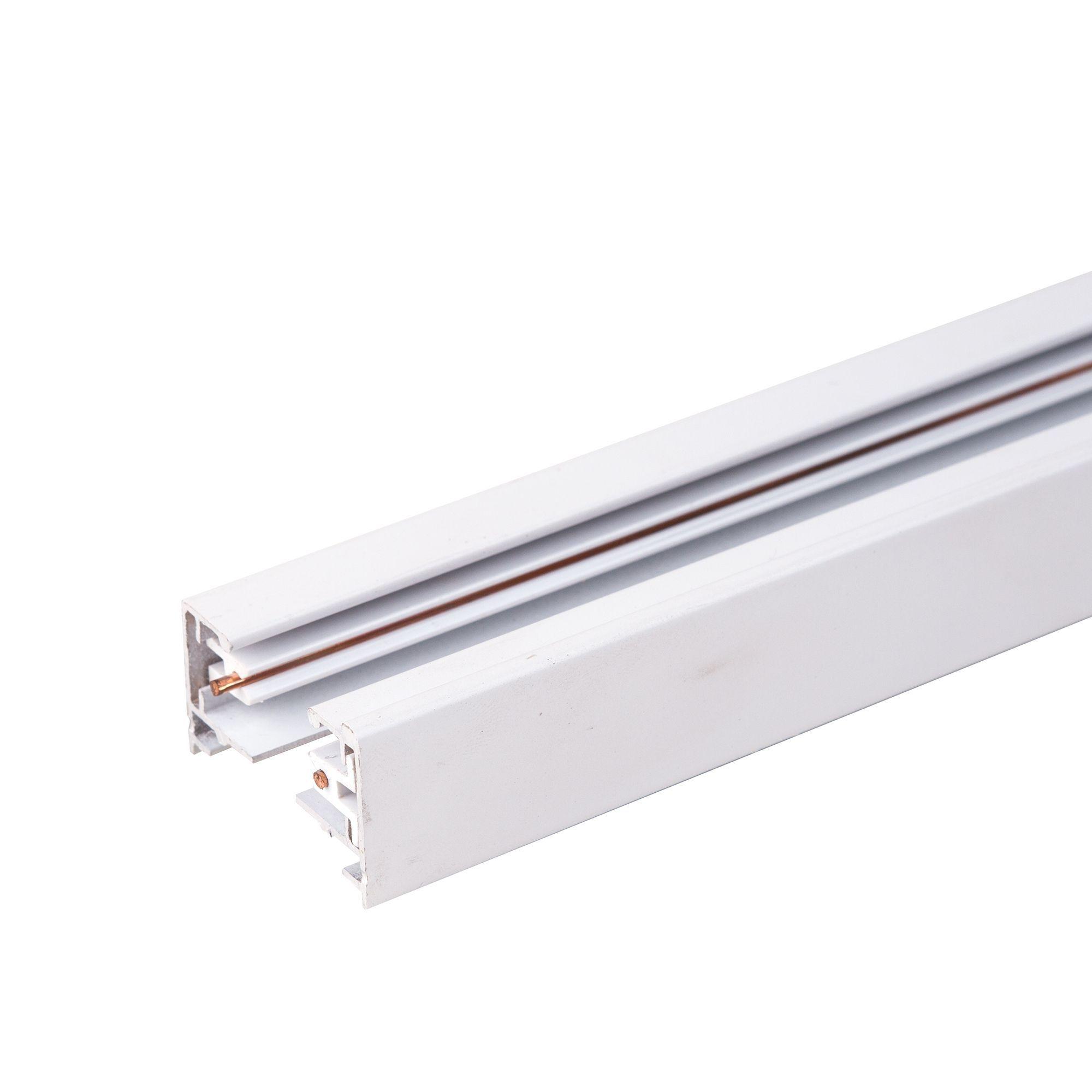 Однофазный шинопровод 3 метра белый (с вводом питания и заглушкой) TRL-1-1-300-WH