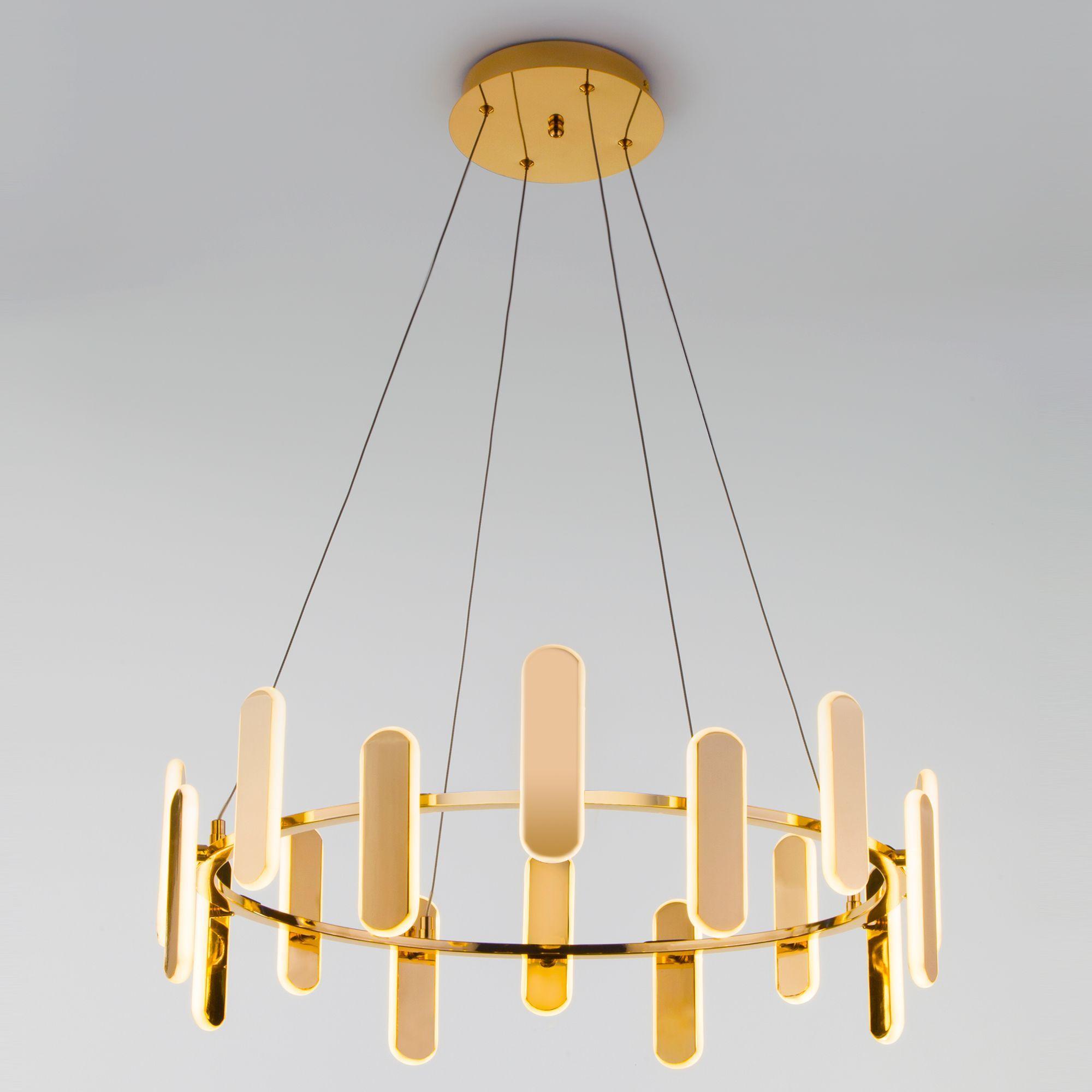 Подвесной светодиодный светильник 90206/16 золото