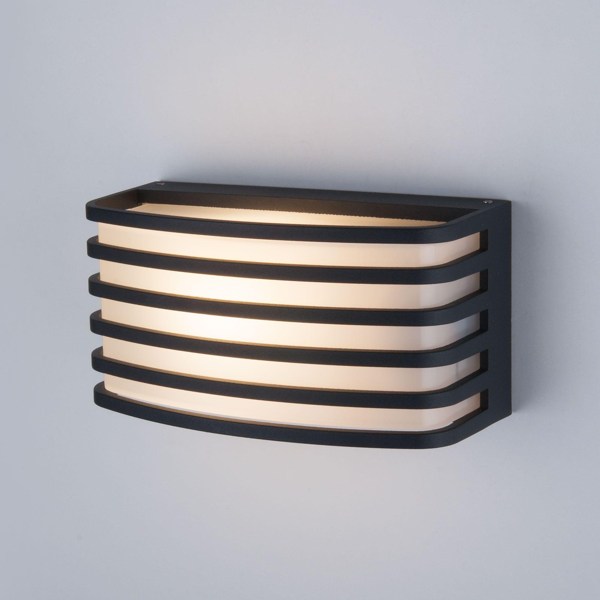 Настенный уличный светильник 1409 TECHNO черный IP54 1409 TECHNO