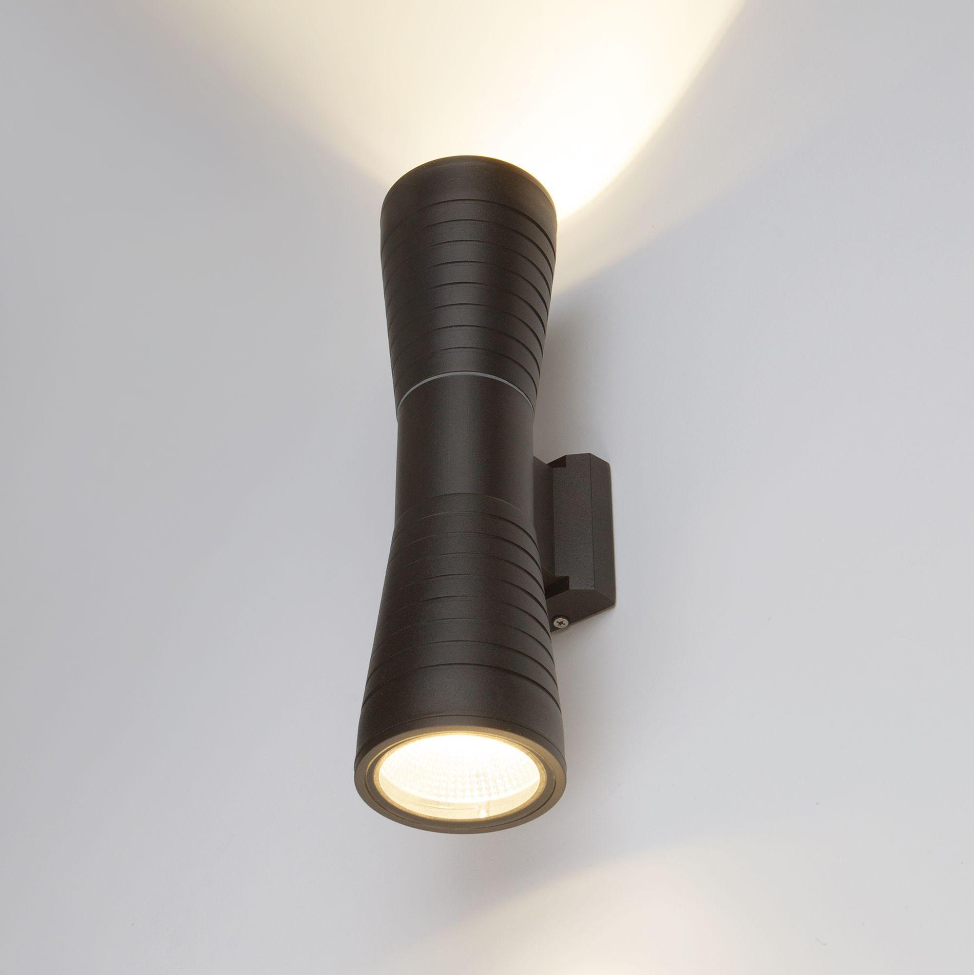 Настенный светодиодный светильник Tube double черный IP54 1502 TECHNO LED
