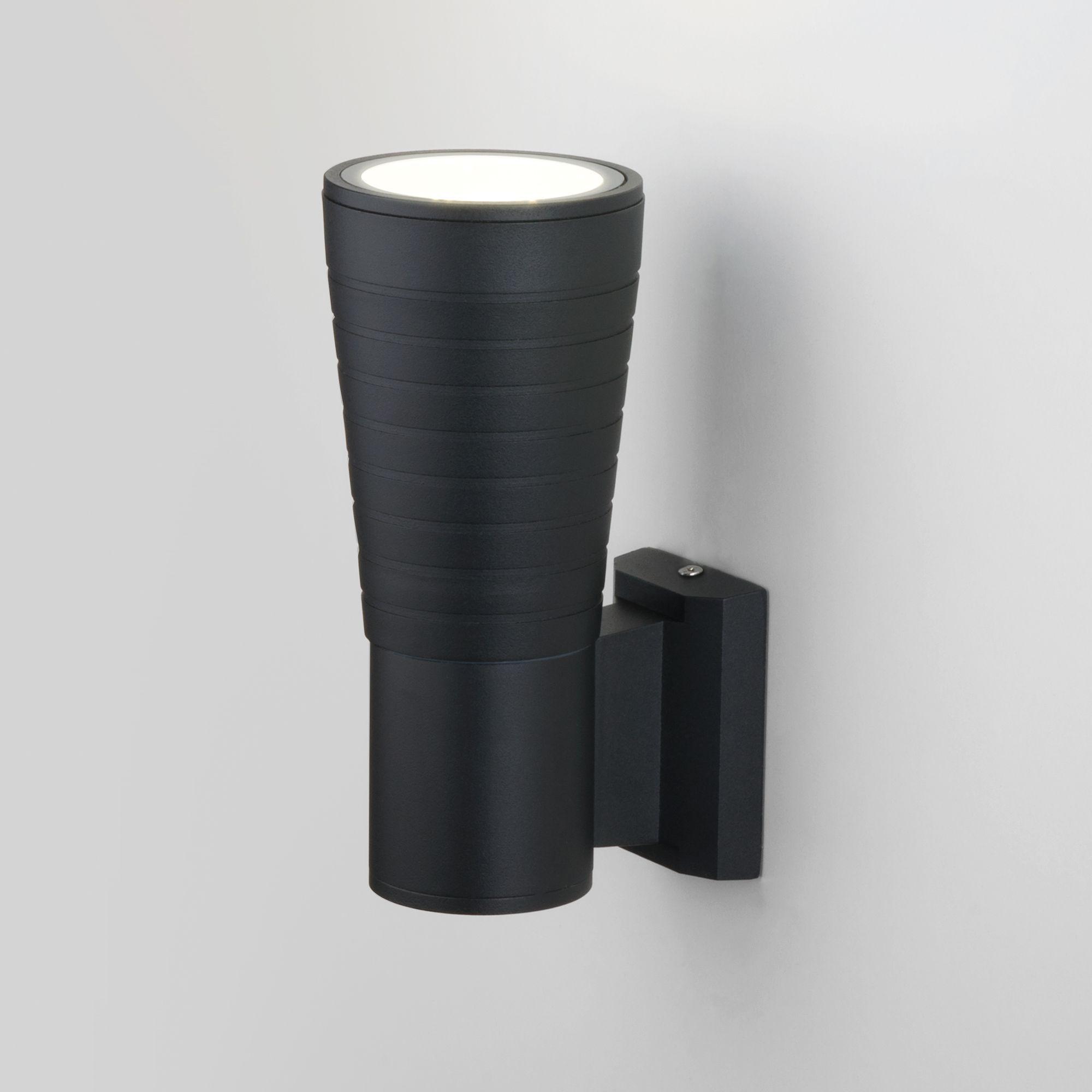 Настенный светодиодный светильник Tube uno черный IP54 1503 TECHNO LED