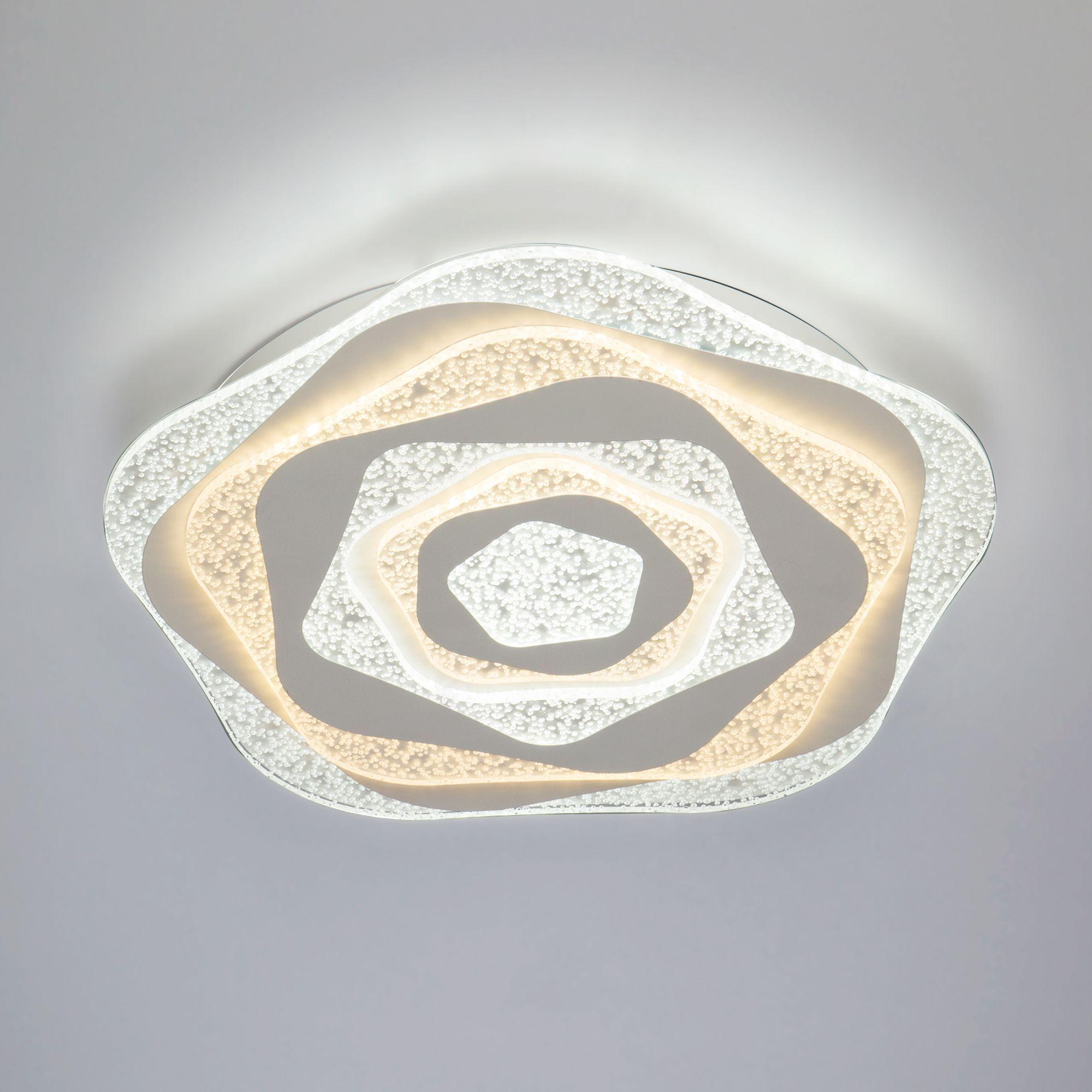 Светодиодный потолочный светильник с пультом управления 90162/1 белый
