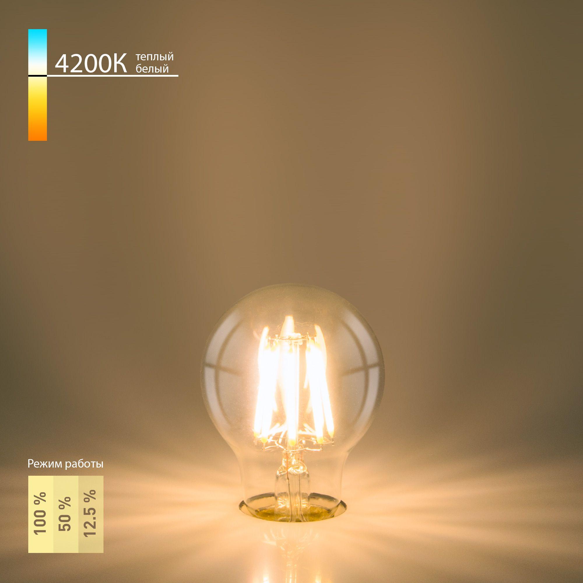 Филаментная светодиодная лампа A60 Dimmable 9W 4200K E27 BL133