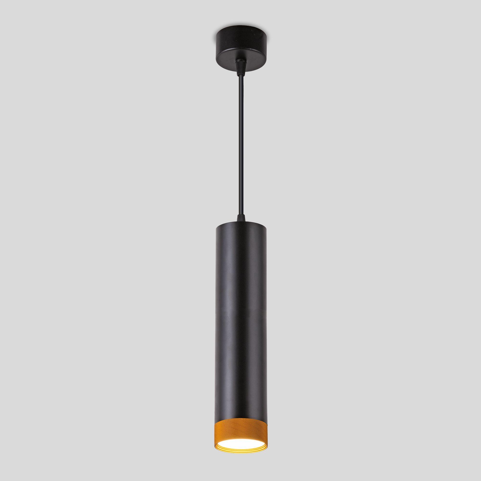 Подвесной светодиодный светильник 50164/1 LED черный/золото
