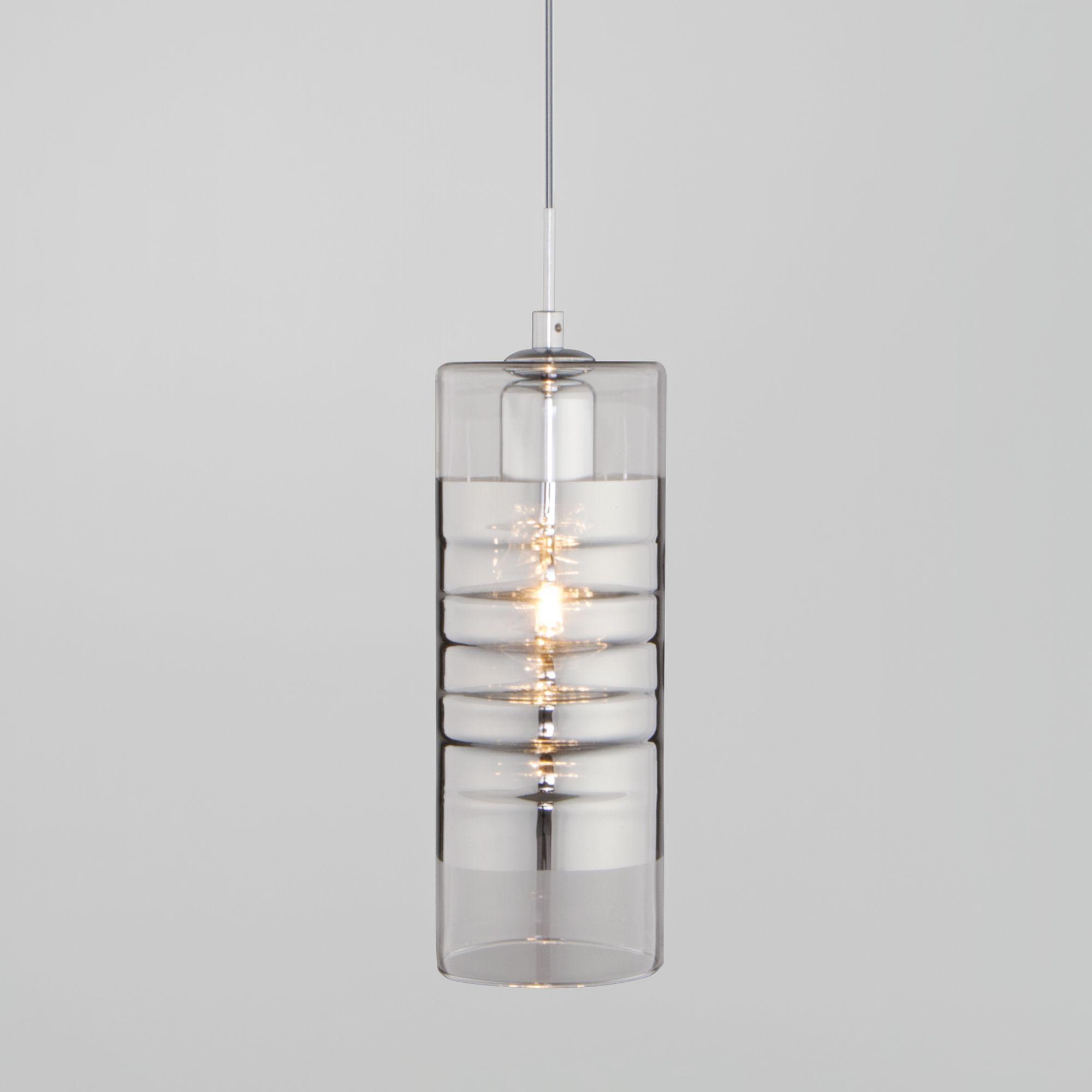 Подвесной светильник со стеклянным плафоном 50185/1 хром