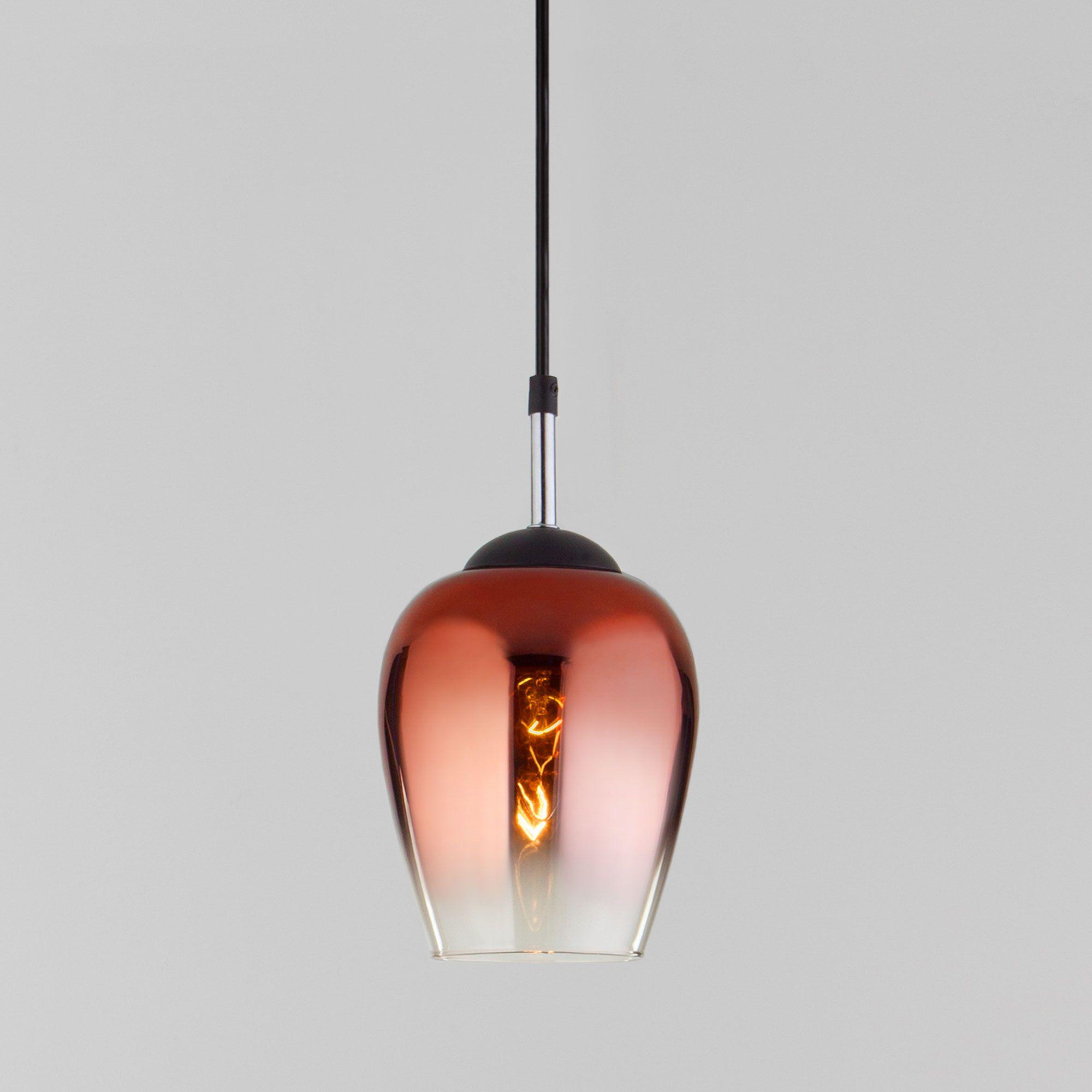 Подвесной светильник со стеклянным плафоном 50086/1 медь