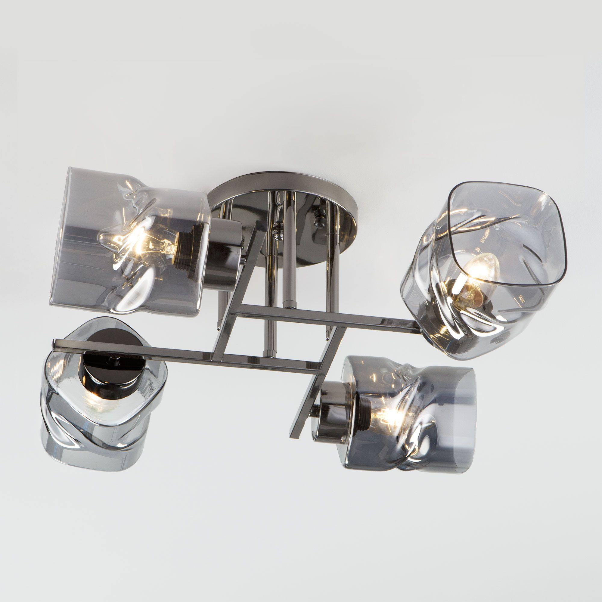Потолочная люстра со стеклянными плафонами 30165/4 черный жемчуг