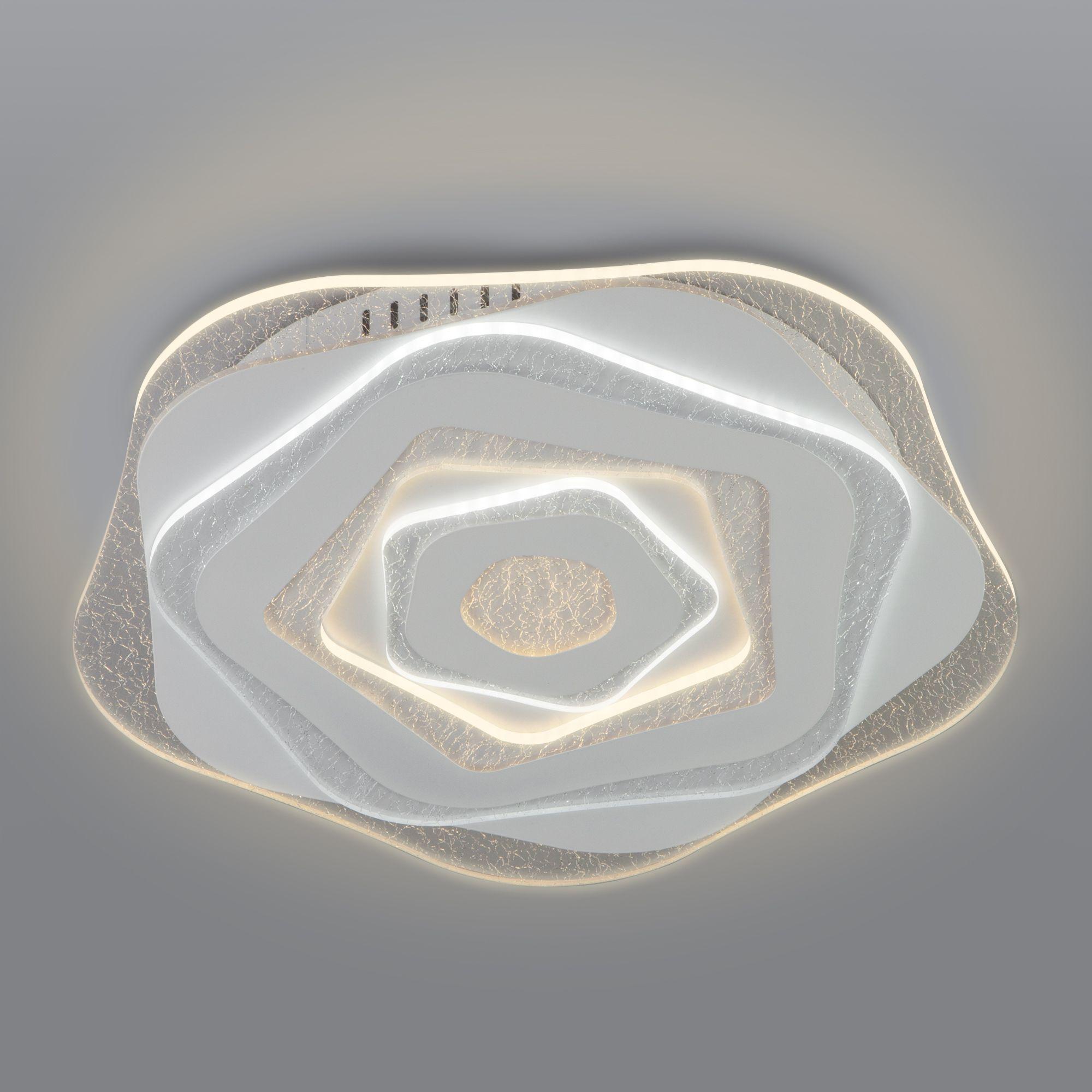 Потолочный светодиодный светильник с пультом управления 90210/1 белый