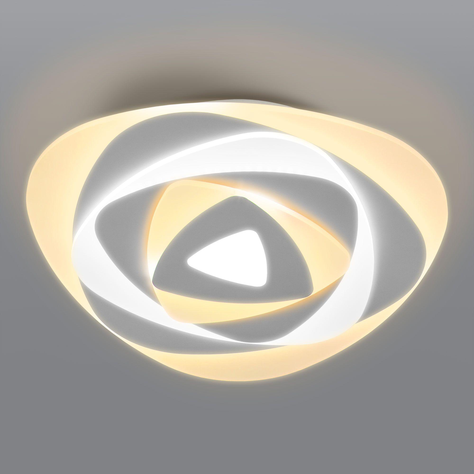 Светодиодный потолочный светильник с пультом управления 90212/1 белый