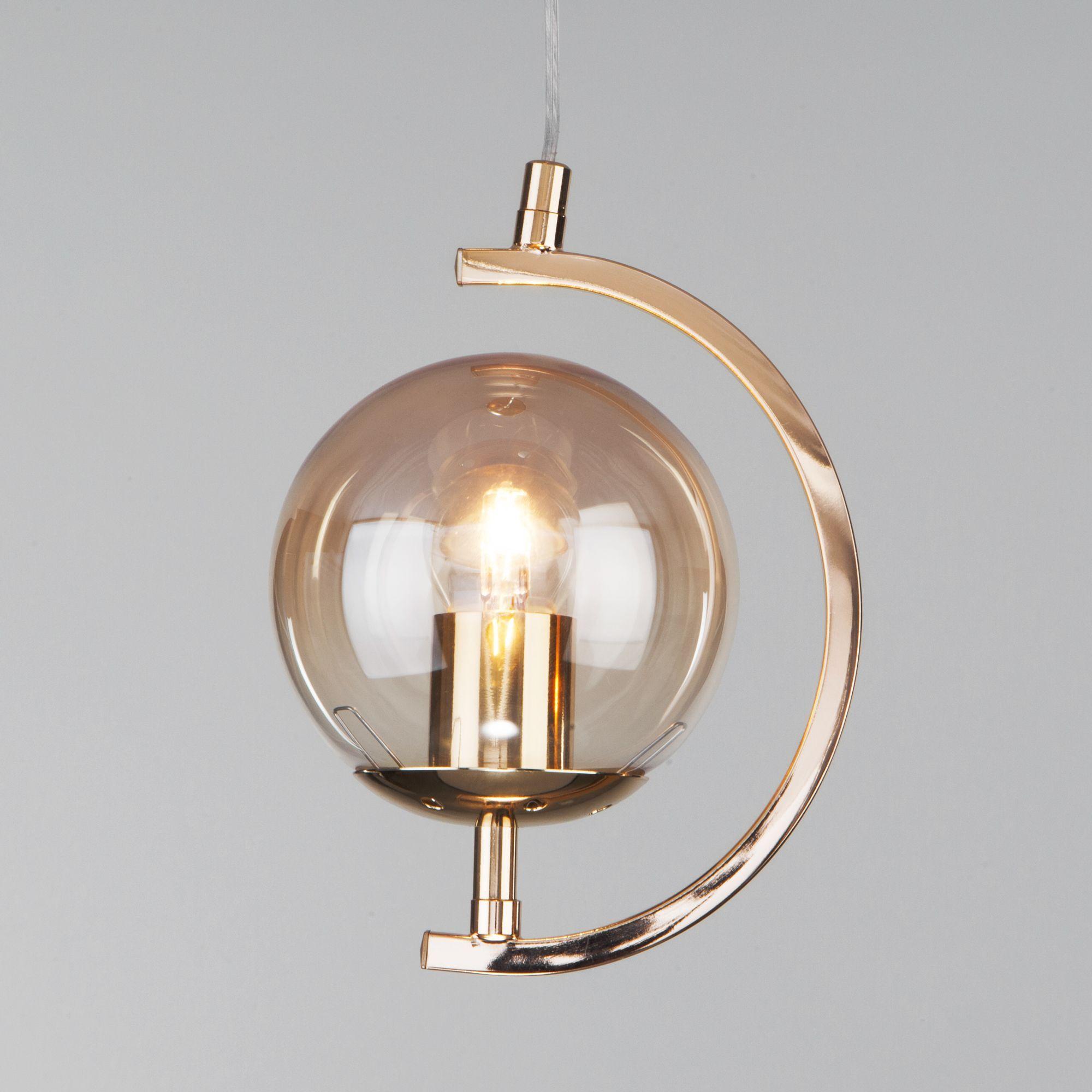 Подвесной светильник со стеклянным плафоном 50072/1 золото