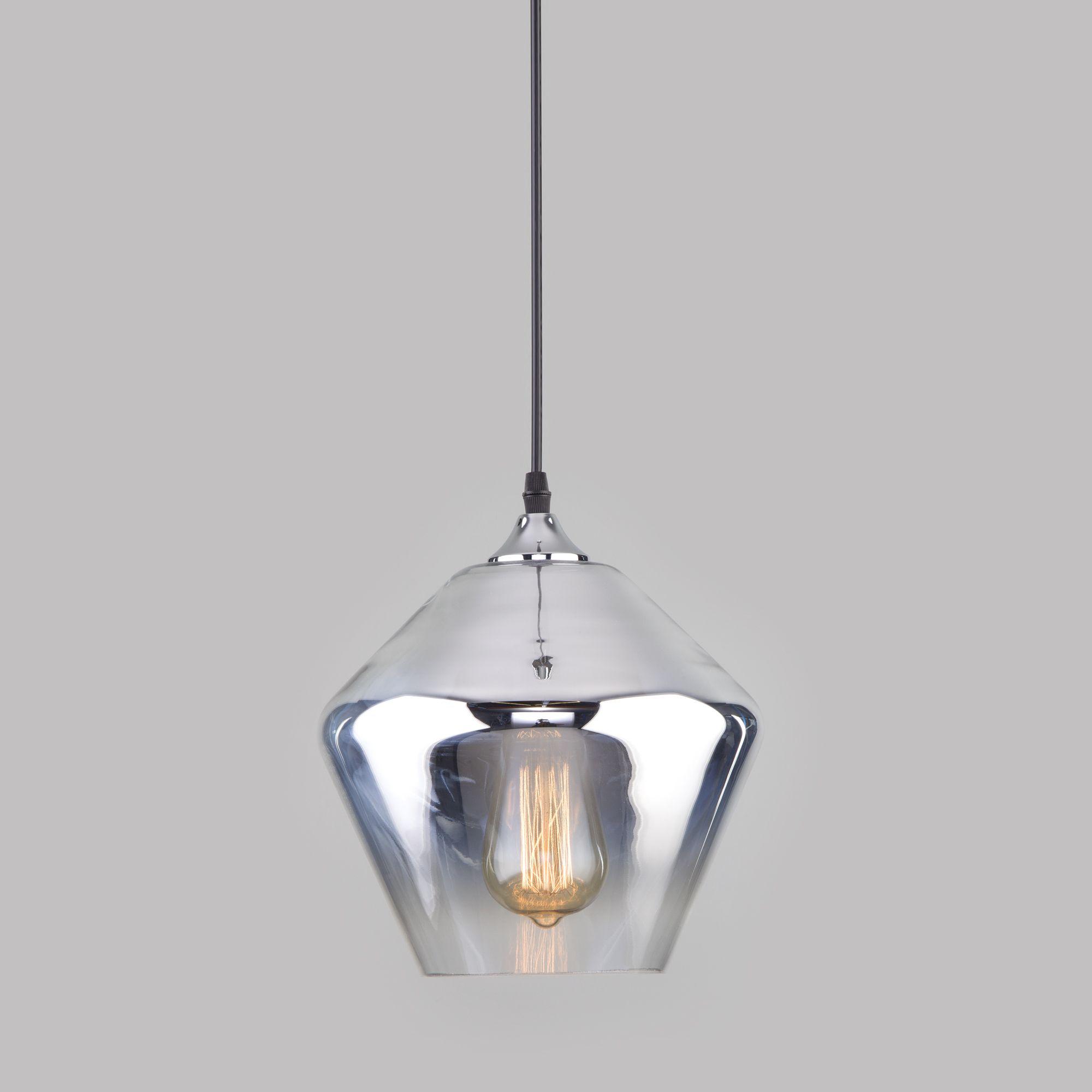 Подвесной светильник со стеклянным плафоном 50198/1 хром