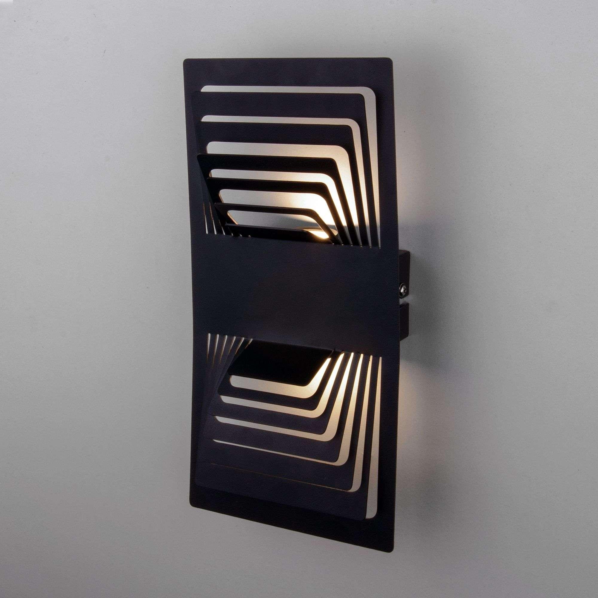 Настенный светодиодный светильник Onda LED чёрный MRL LED 1025