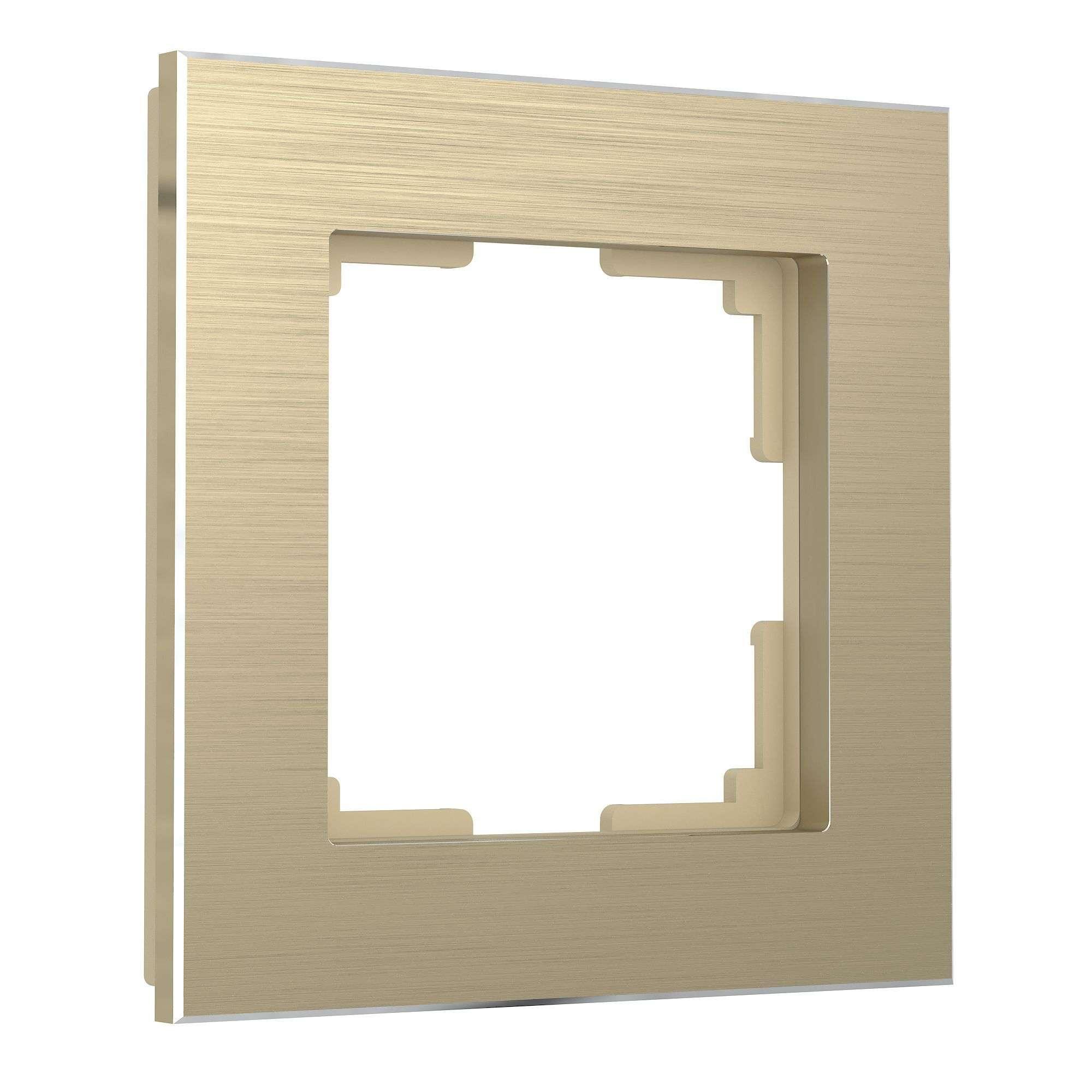 Рамка из металла на 1 поста Аluminium шампань алюминий W0011711
