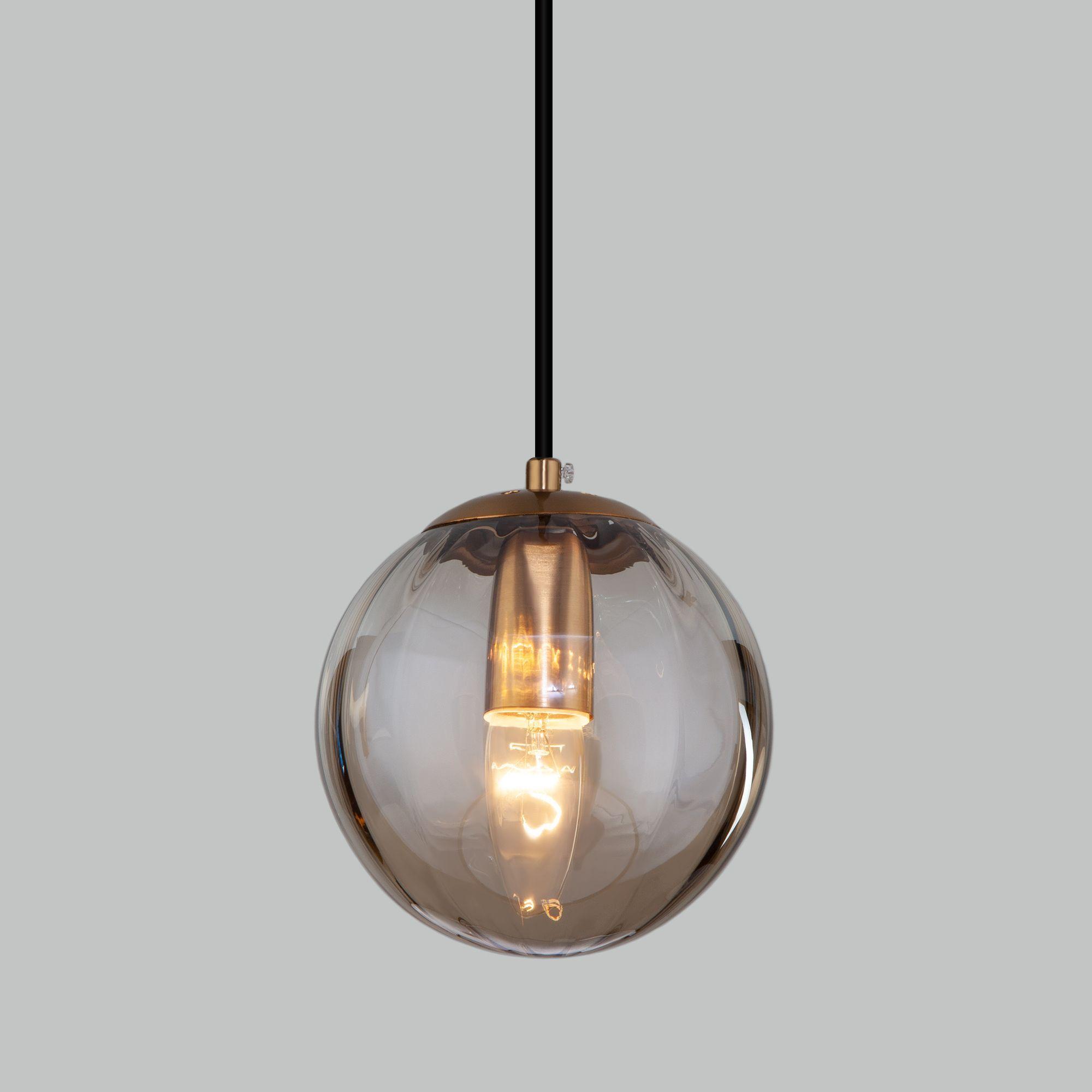 Подвесной светильник со стеклянным плафоном 50207/1 янтарный
