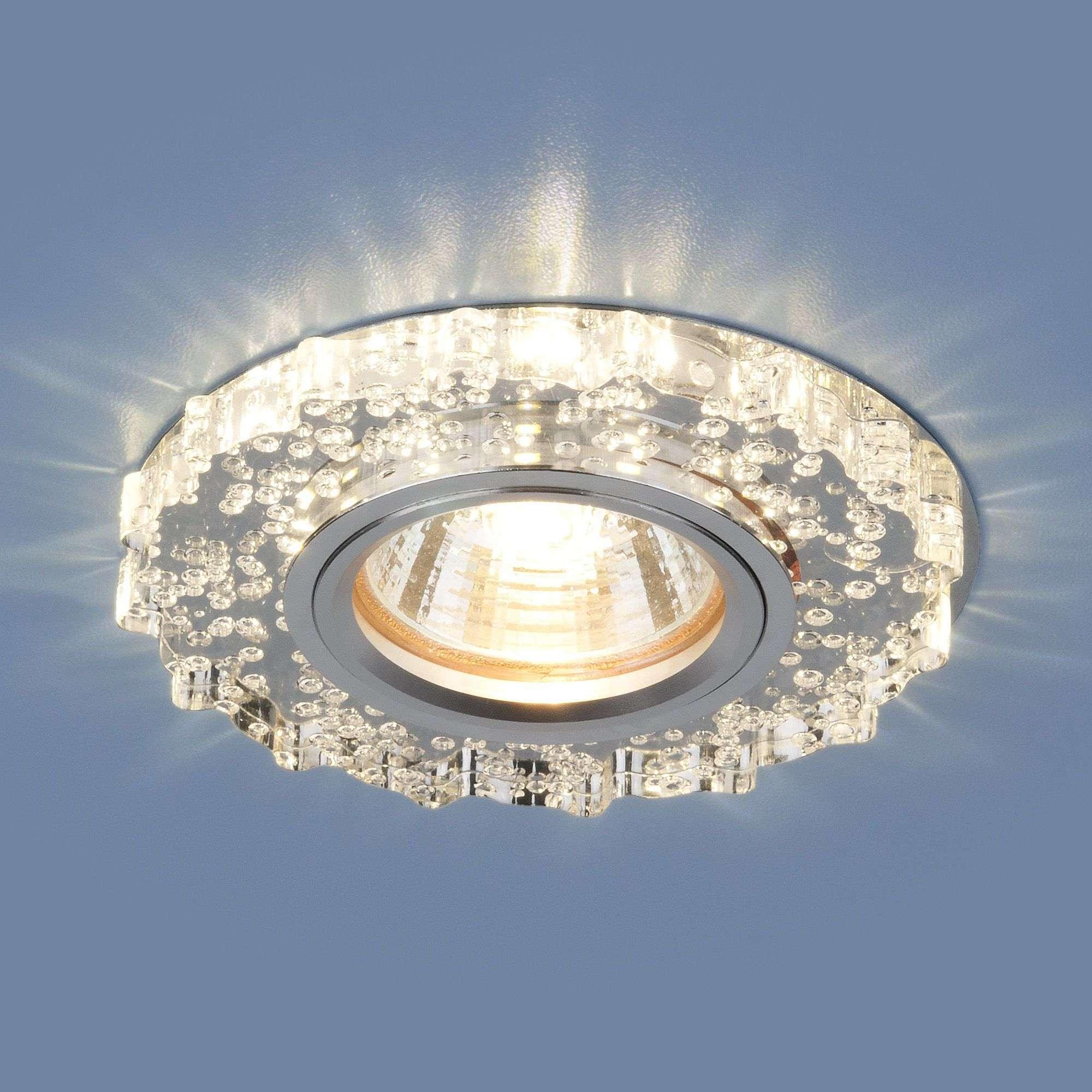 Точечный светильник с LED подсветкой 2202 MR16 CL прозрачный