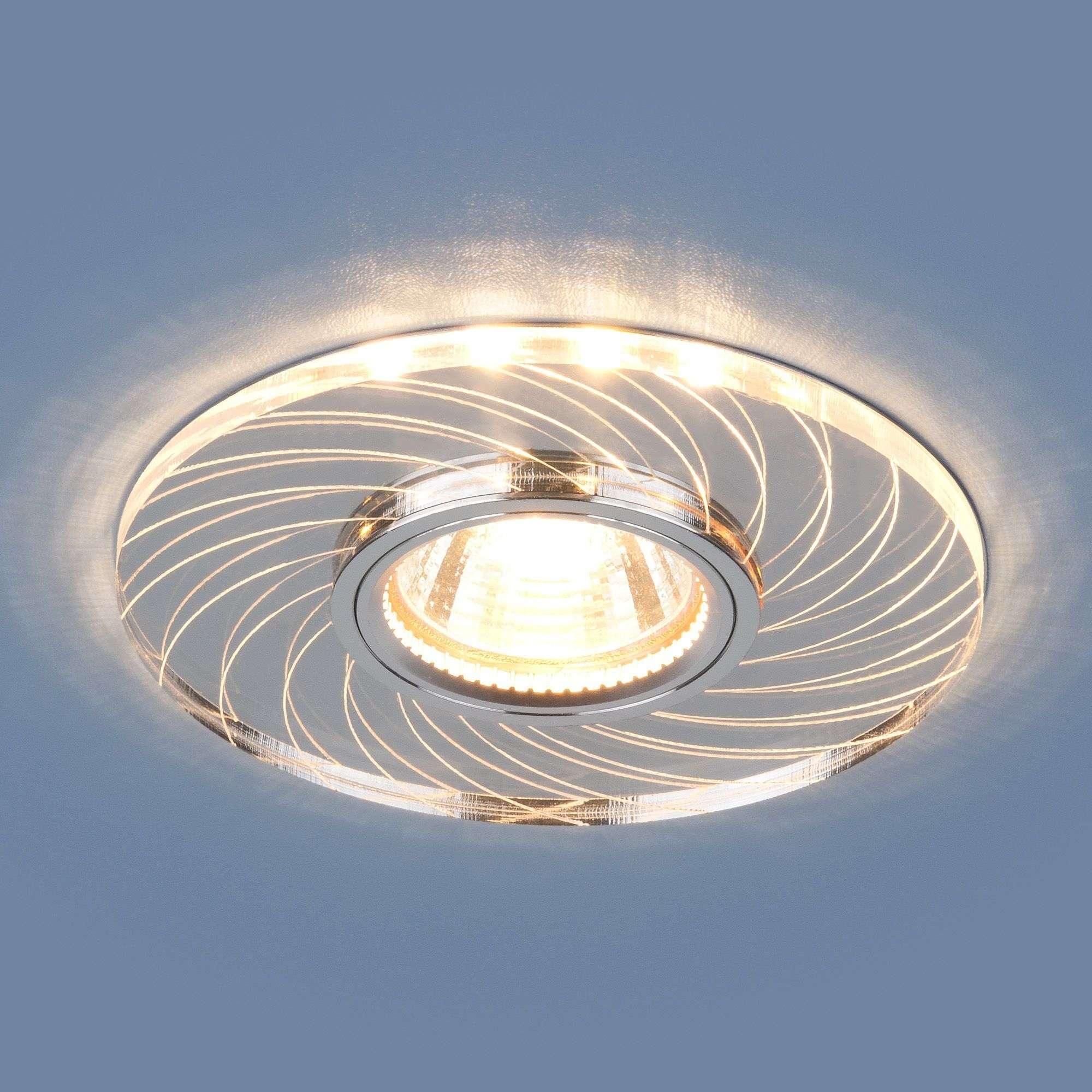 Точечный светильник с LED подсветкой 2203 MR16 CL прозрачный