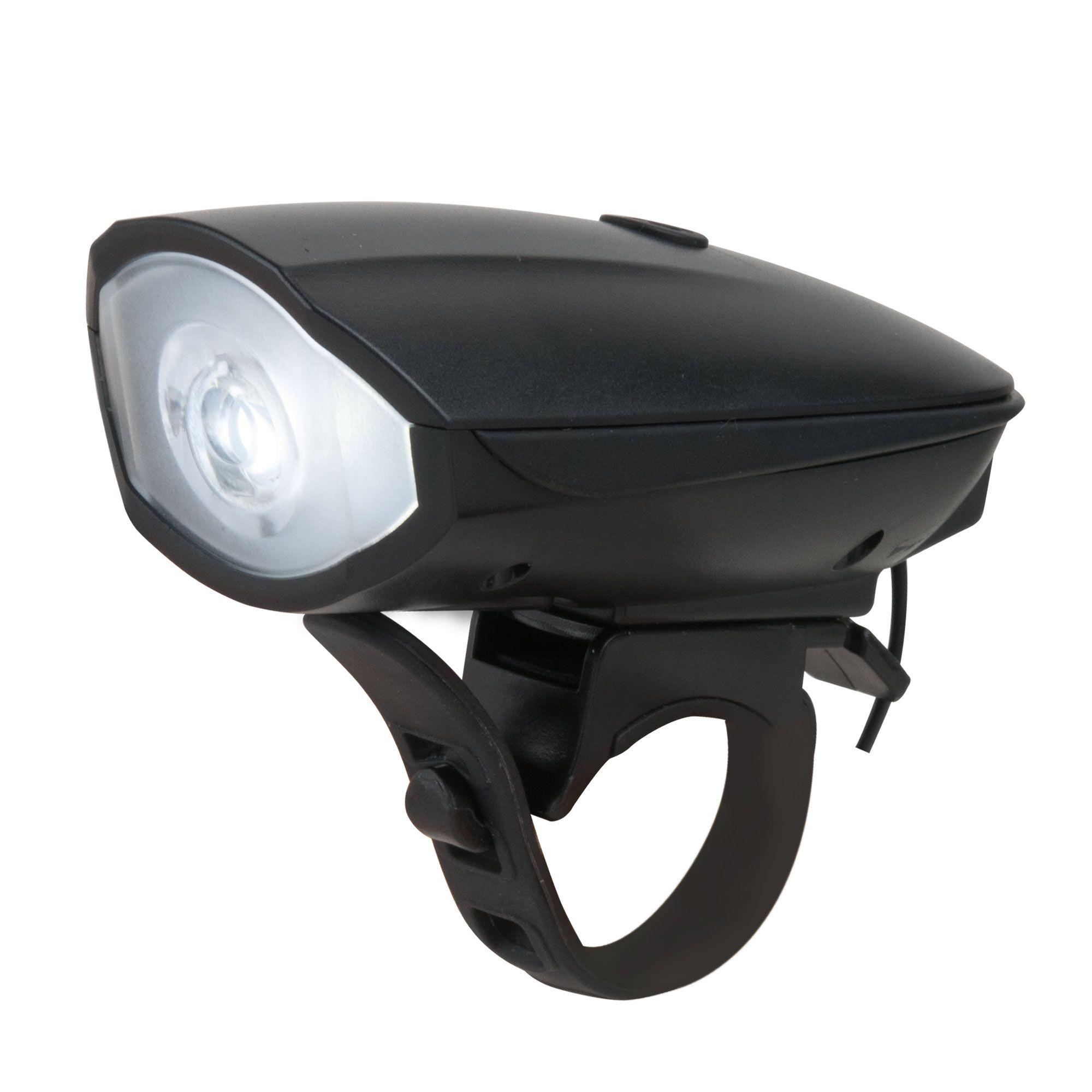 Велофонарь светодиодный с кнопкой звонка Speaker FL30 черный