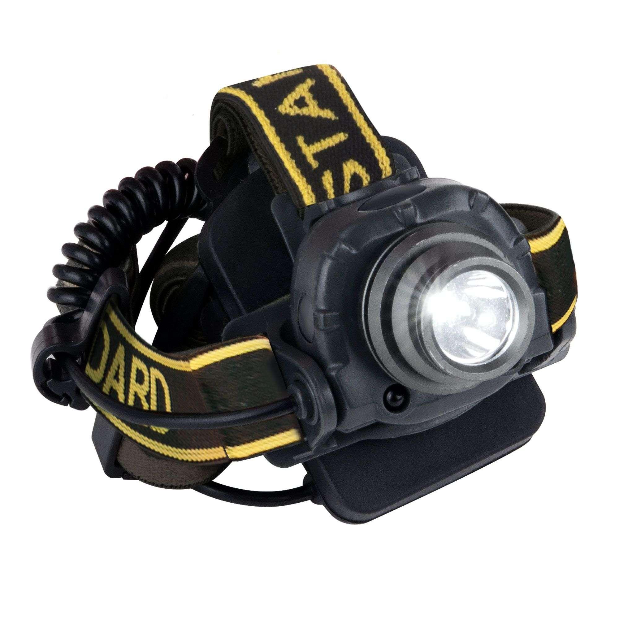 Налобный светодиодный фонарь с функцией бесконтактного включения Wizard FL50 черный