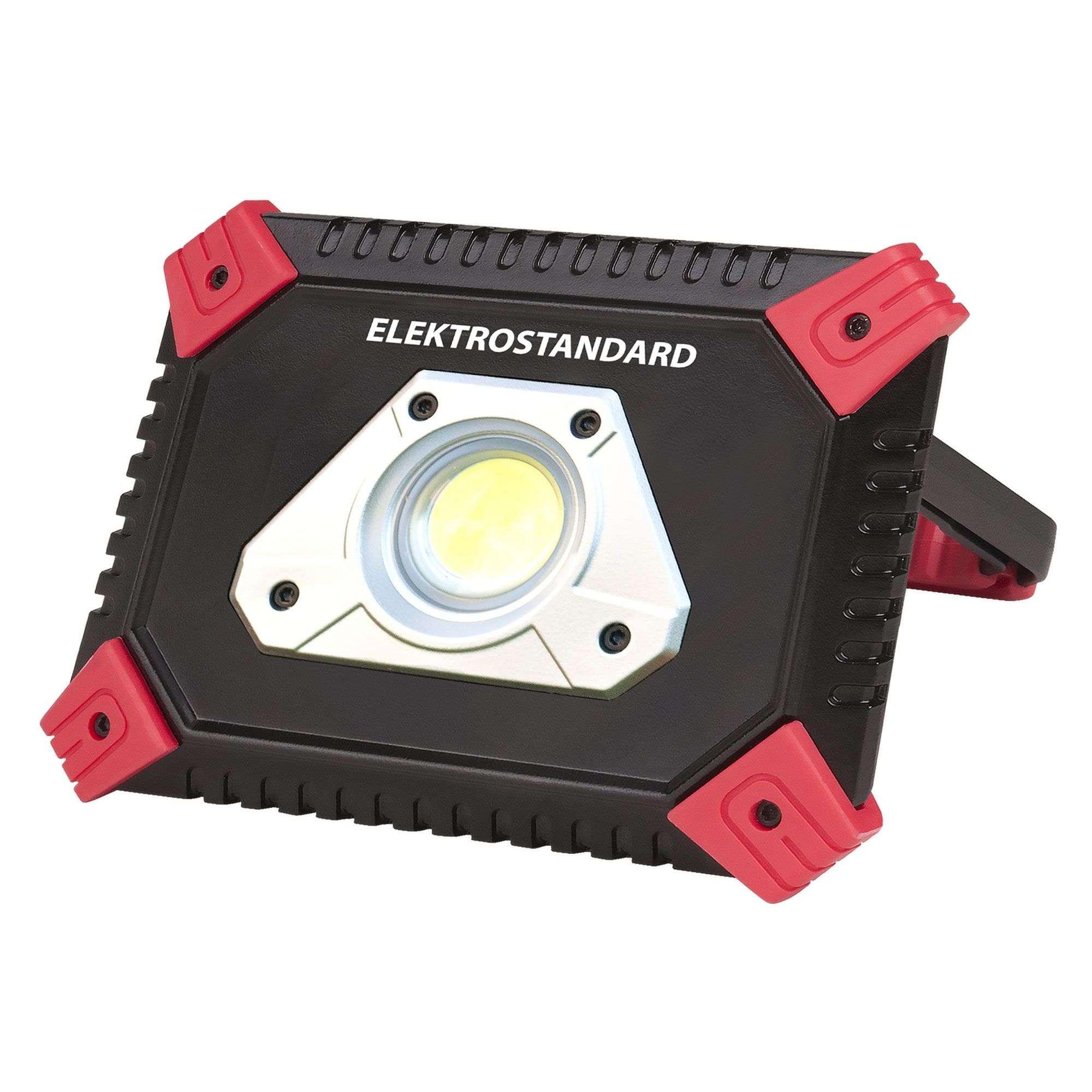 Ручной светодиодный прожектор с функцией power bank Albion FL120 черный/красный