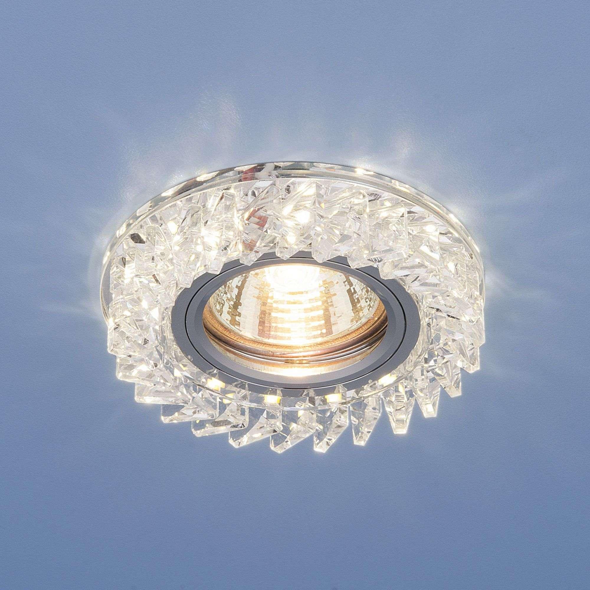 Встраиваемый точечный светильник с LED подсветкой 2216 MR16 CL прозрачный