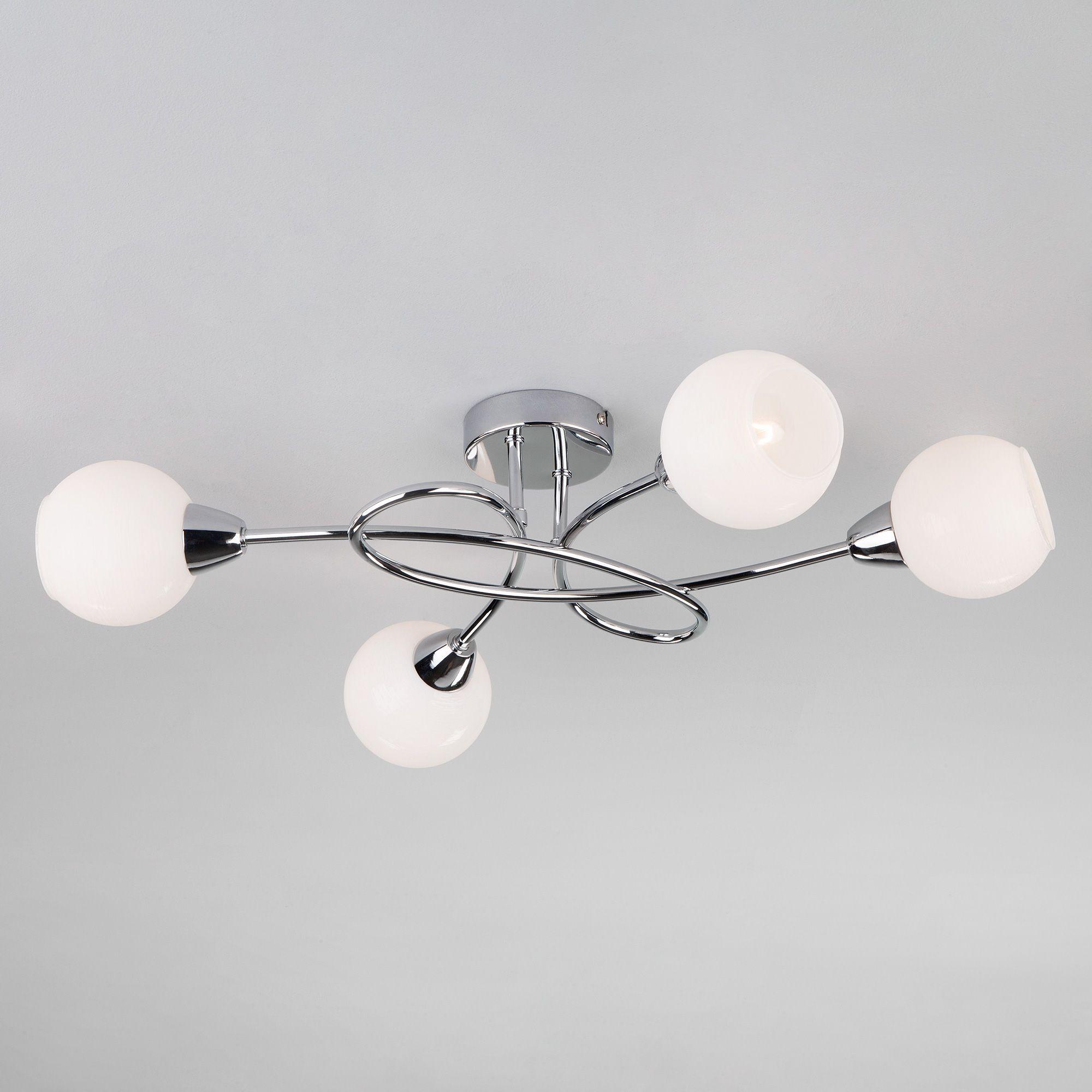 Потолочный светильник с круглыми плафонами 30133/4 хром