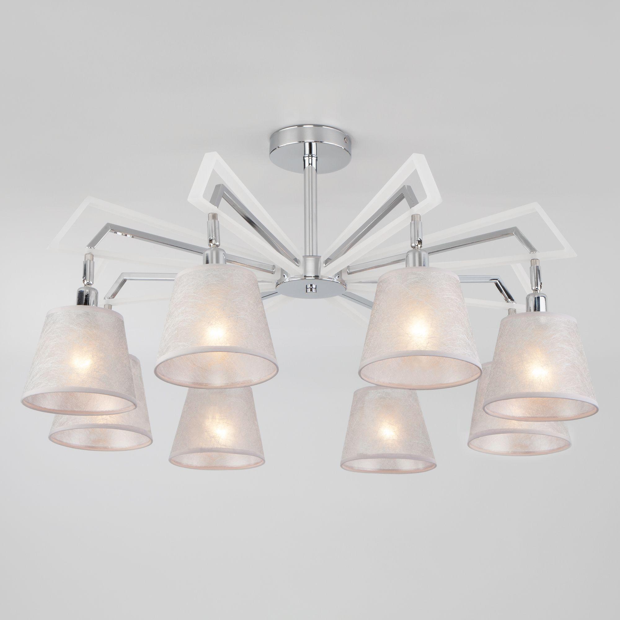 Потолочный светильник с плафонами 60082/8 хром