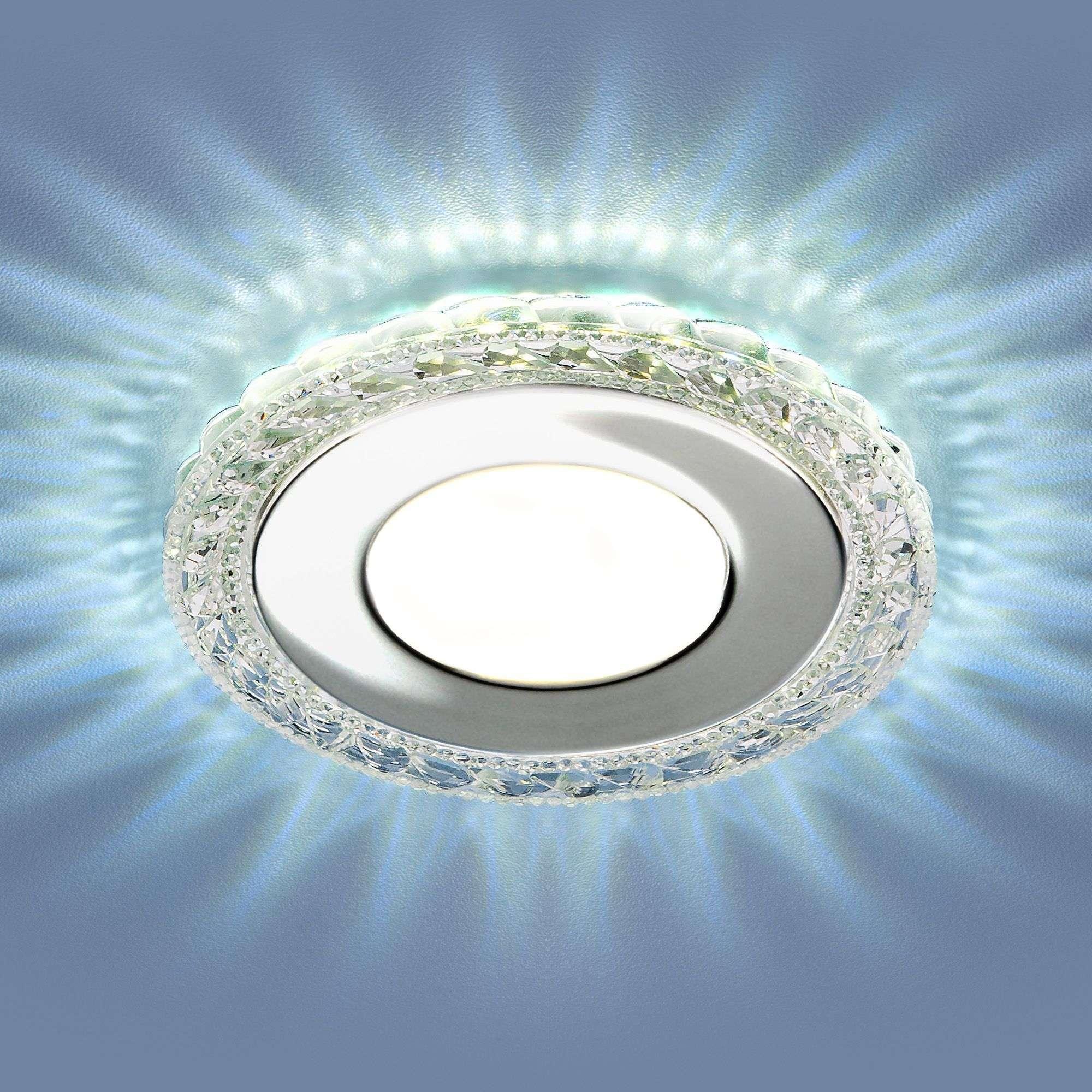 Точечный светильник с LED подсветкой 9909 LED 8W CL прозрачный