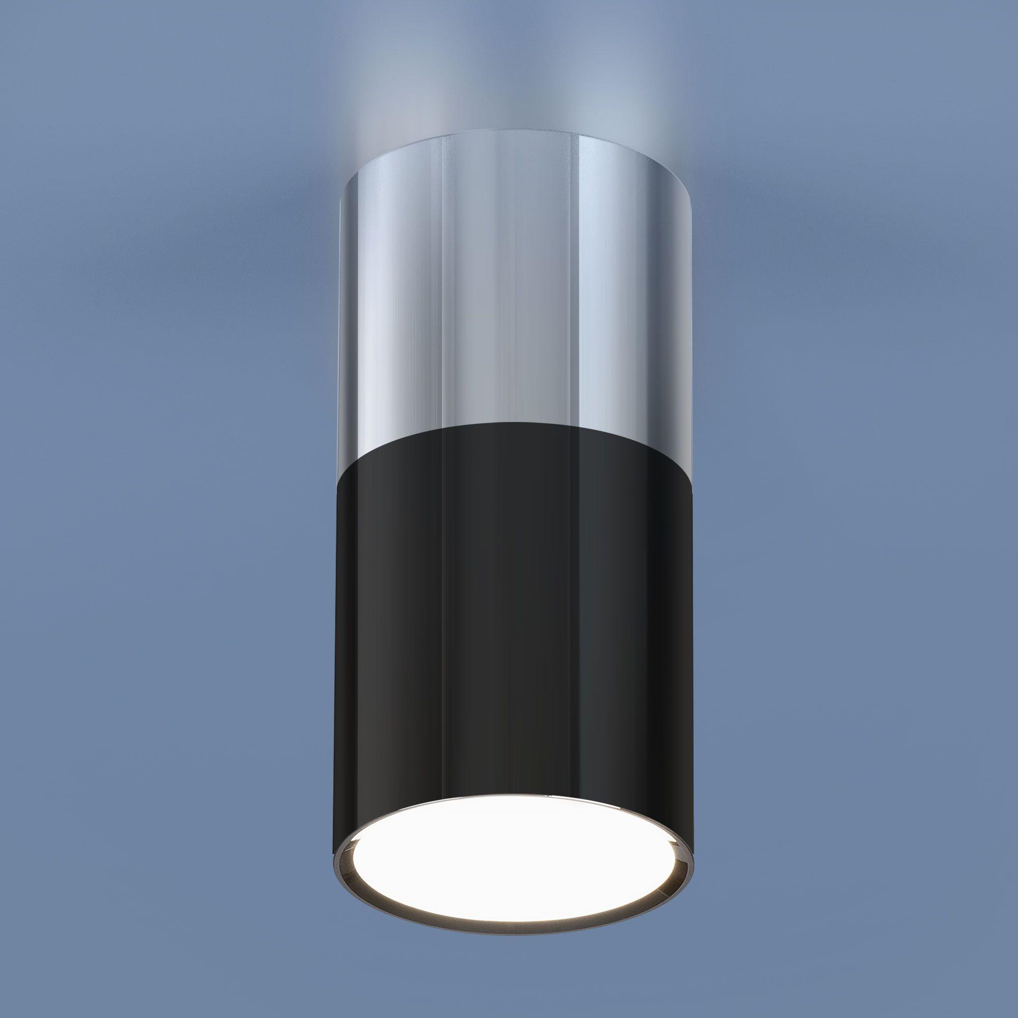 Накладной светодиодный светильник DLR028 6W 4200K хром/черный хром