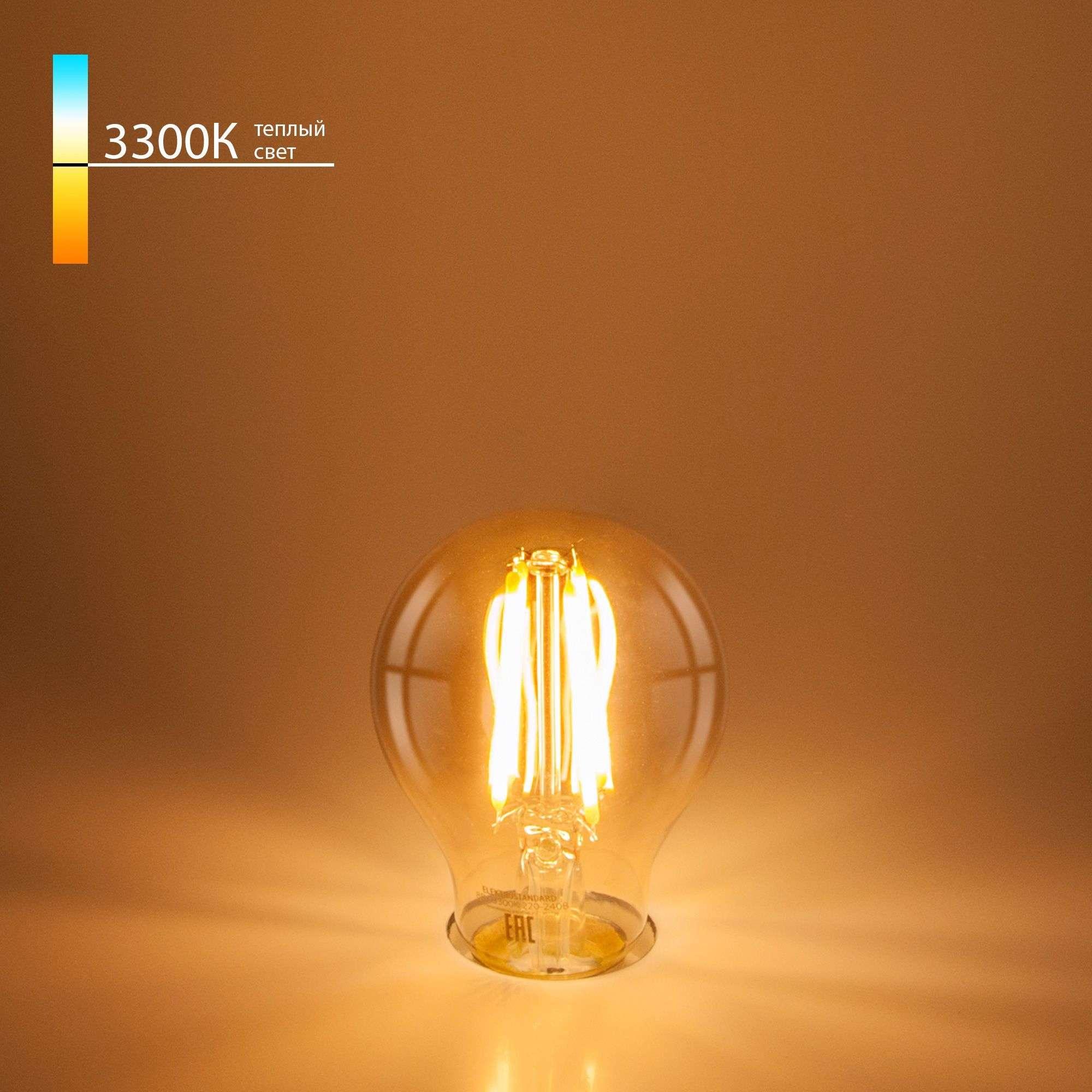 Филаментная светодиодная лампа A60 12W 3300K E27 Classic LED 12W 3300K E27 ретро